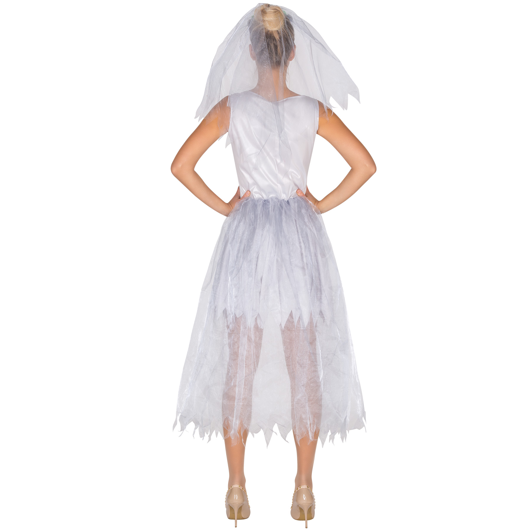 Sexy Brautkleid Skelett Kostüm Karneval Fasching Halloween Damen ...
