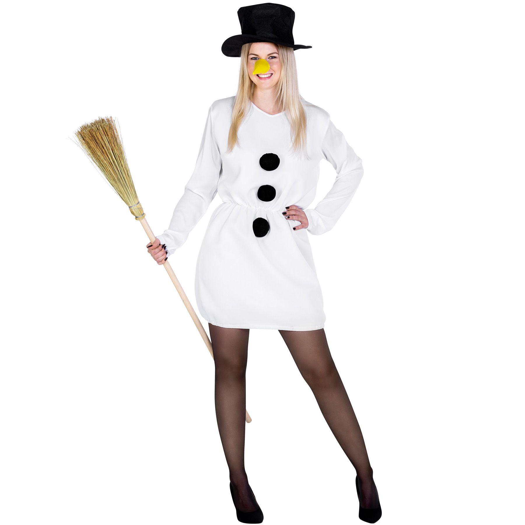 Costume Donna di neve pupazzo di neve festa di natale incl cilindro carnevale n