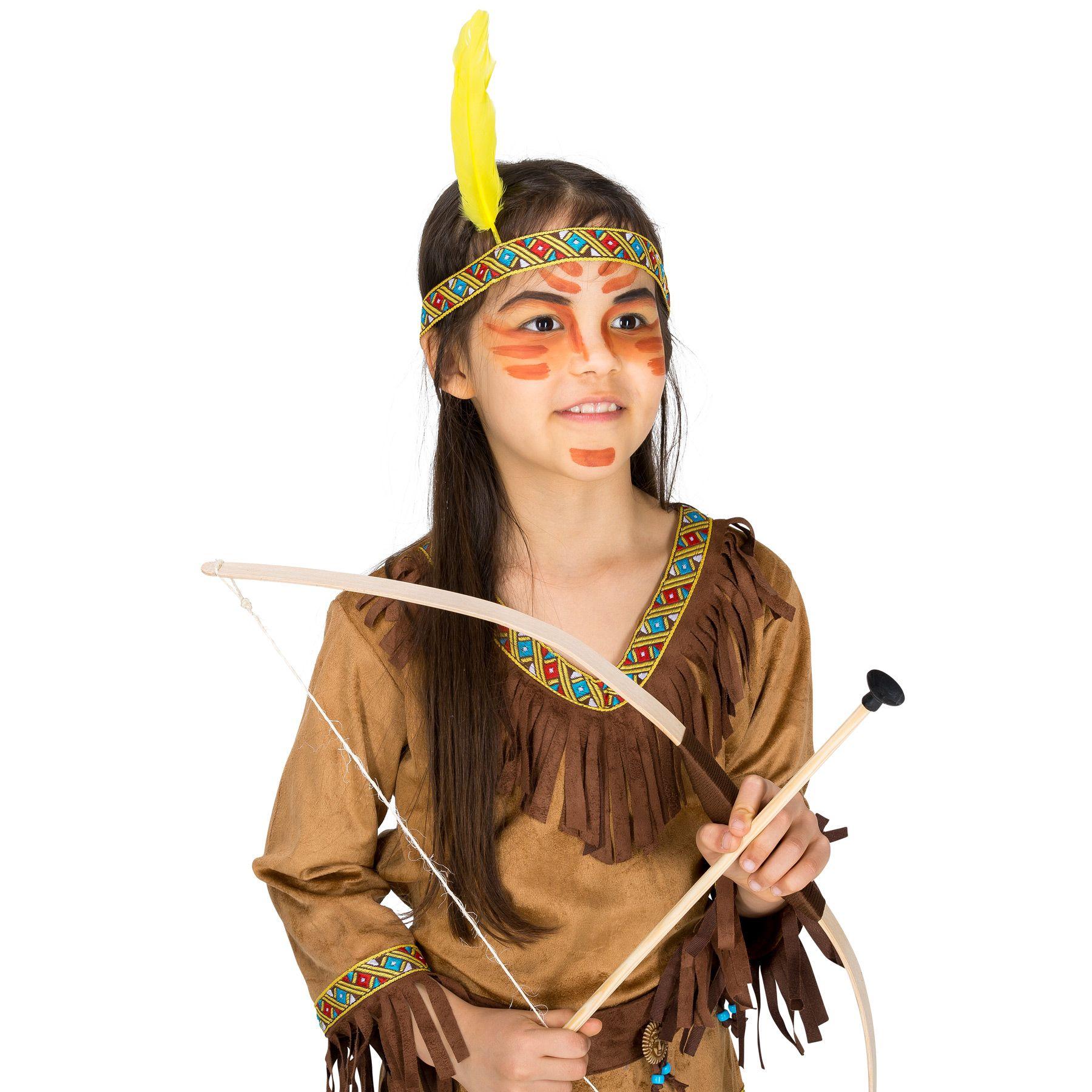 ada4c765c9ec Il costume per bambina ragazza da indiana Shania è un meraviglioso vestito  da indiana