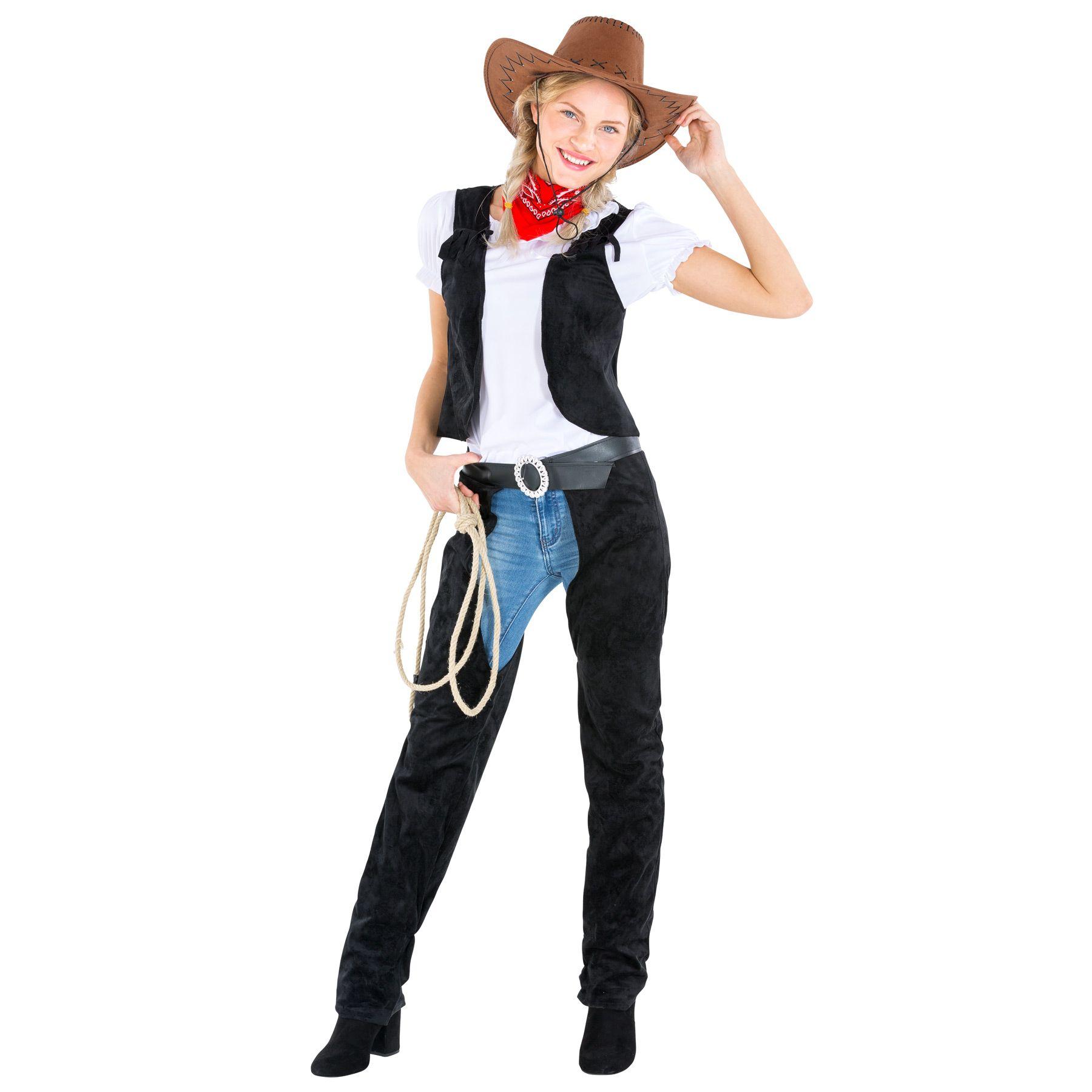 Frauenkostüm Cowgirl Cowboy Sheriff Western Wilder Westen Fasching