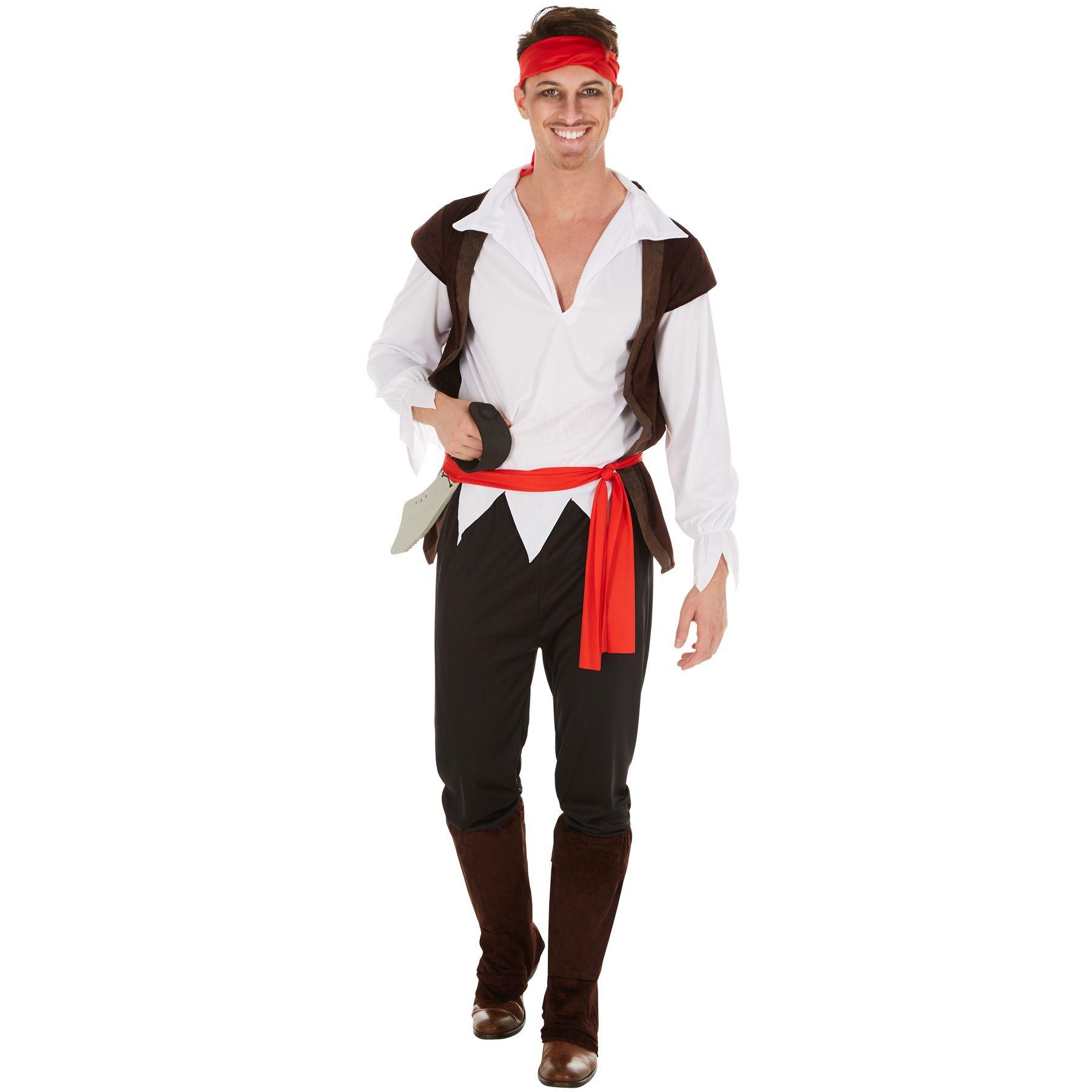 Cappello da Pirata Adulti Da Uomo Donna Bucaniere Capitano Costume Accessorio