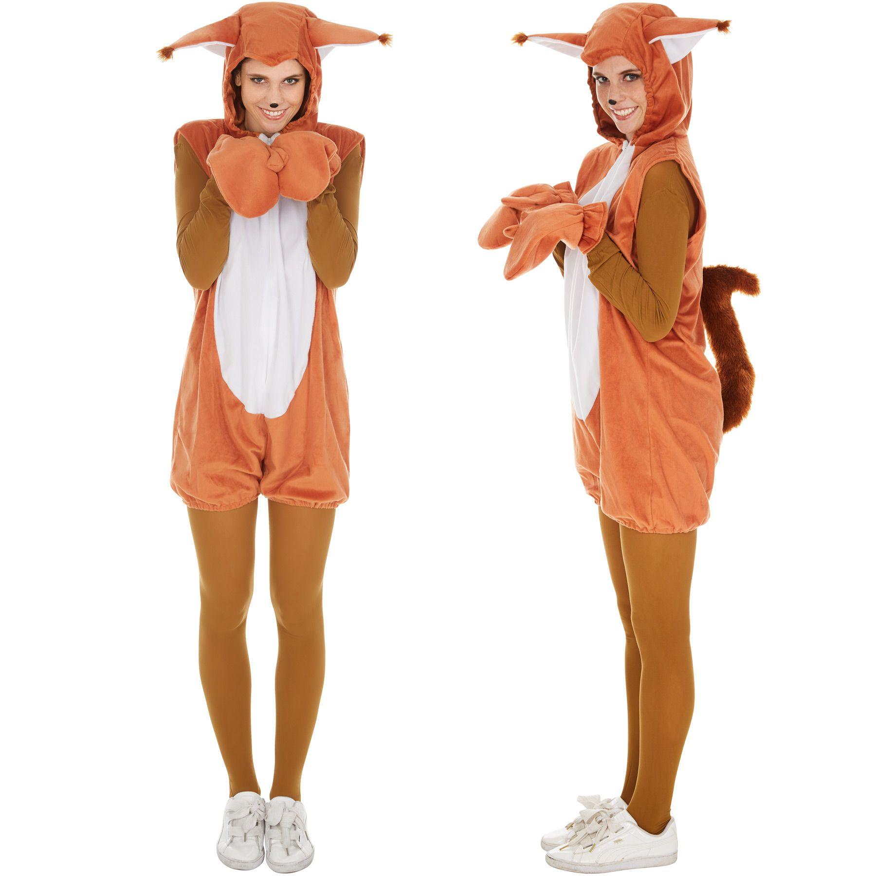 Eichhornchen Kostum Frauen Manner Karneval Fasching Halloween