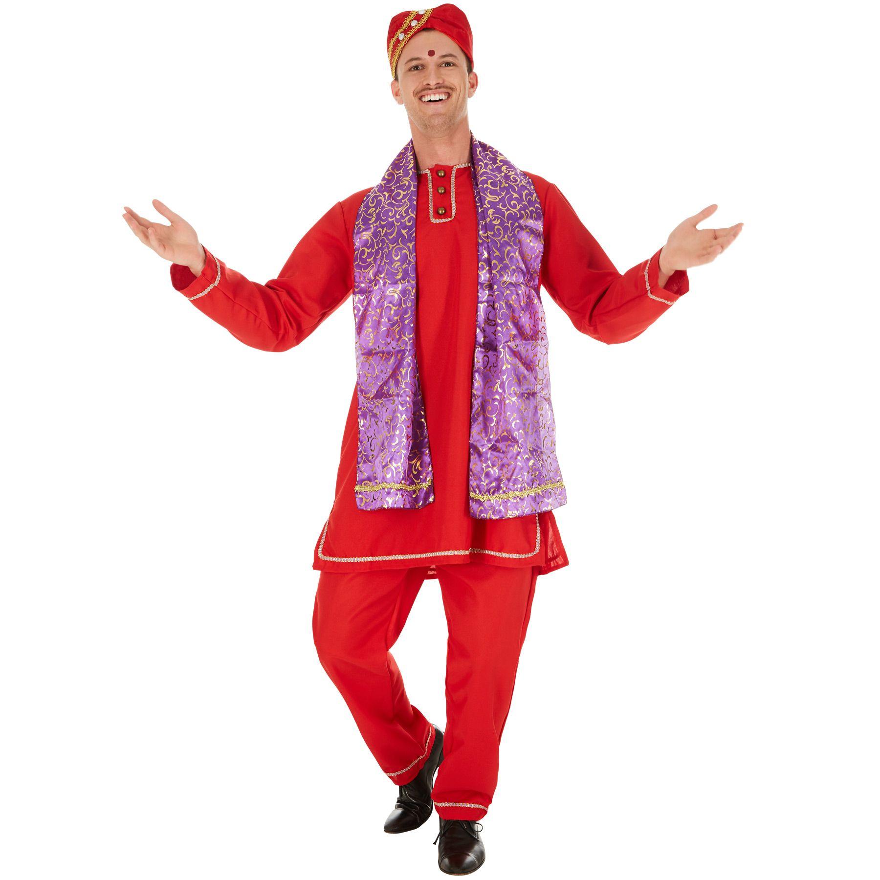 ARABER SET Hut Mütze Turban grauer Bart Inder Arabien Orient Kostüm Party 74607