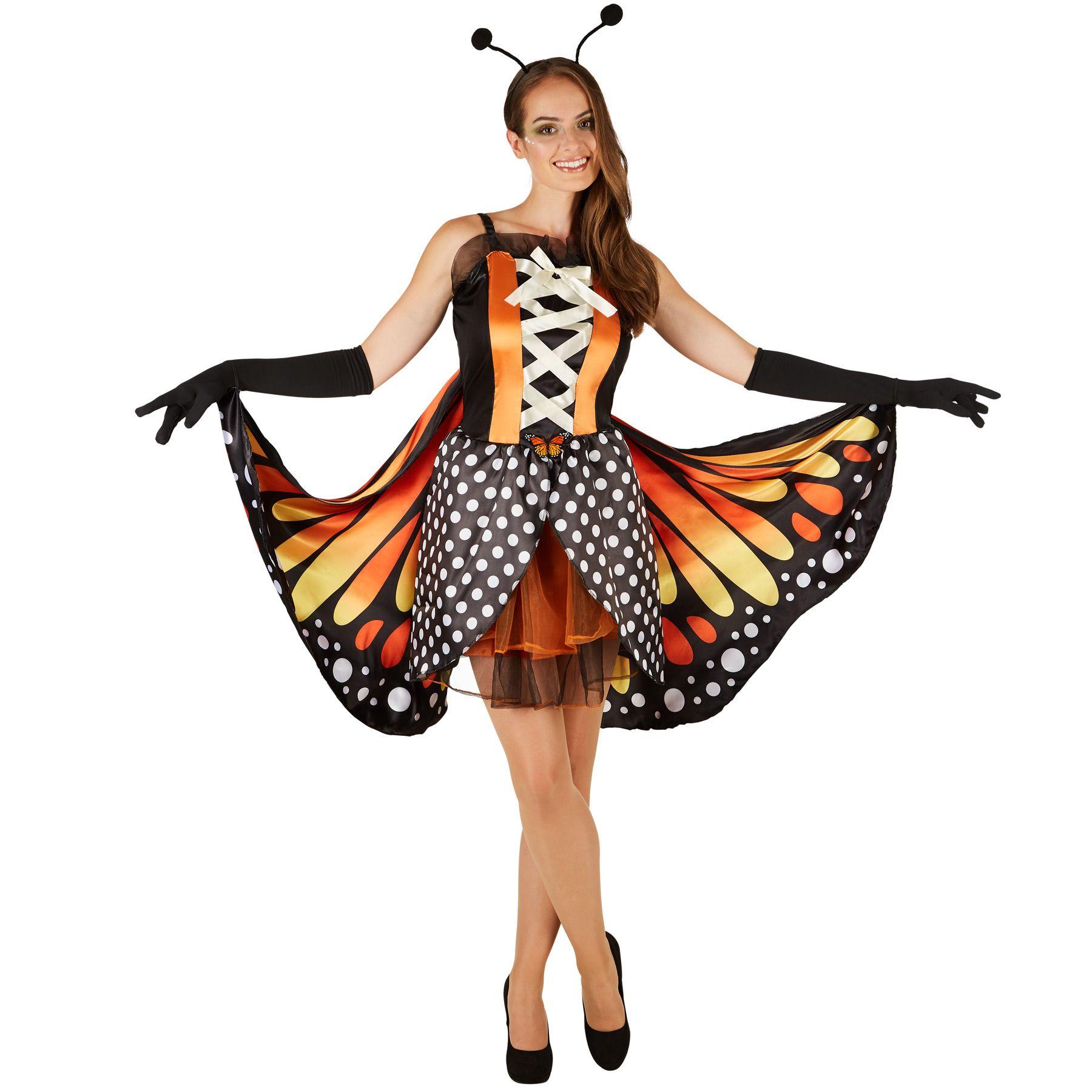 elegante nuova selezione bel design Dettagli su Costume da Donna Farfalla Aglais Insetto Vestito Abito  Carnevale Halloween nuovo