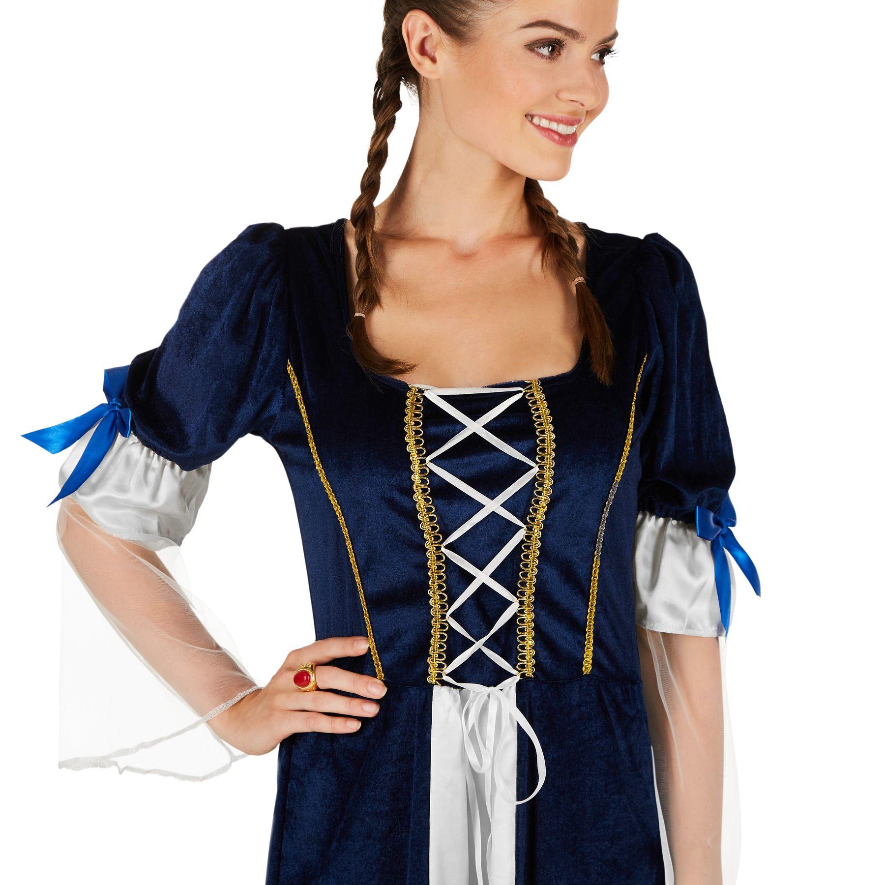 e8e56e61b634 Il costume da donna Figlia del re è costituito da un abito in raso e  velluto panné, materiale: 100% poliestere.