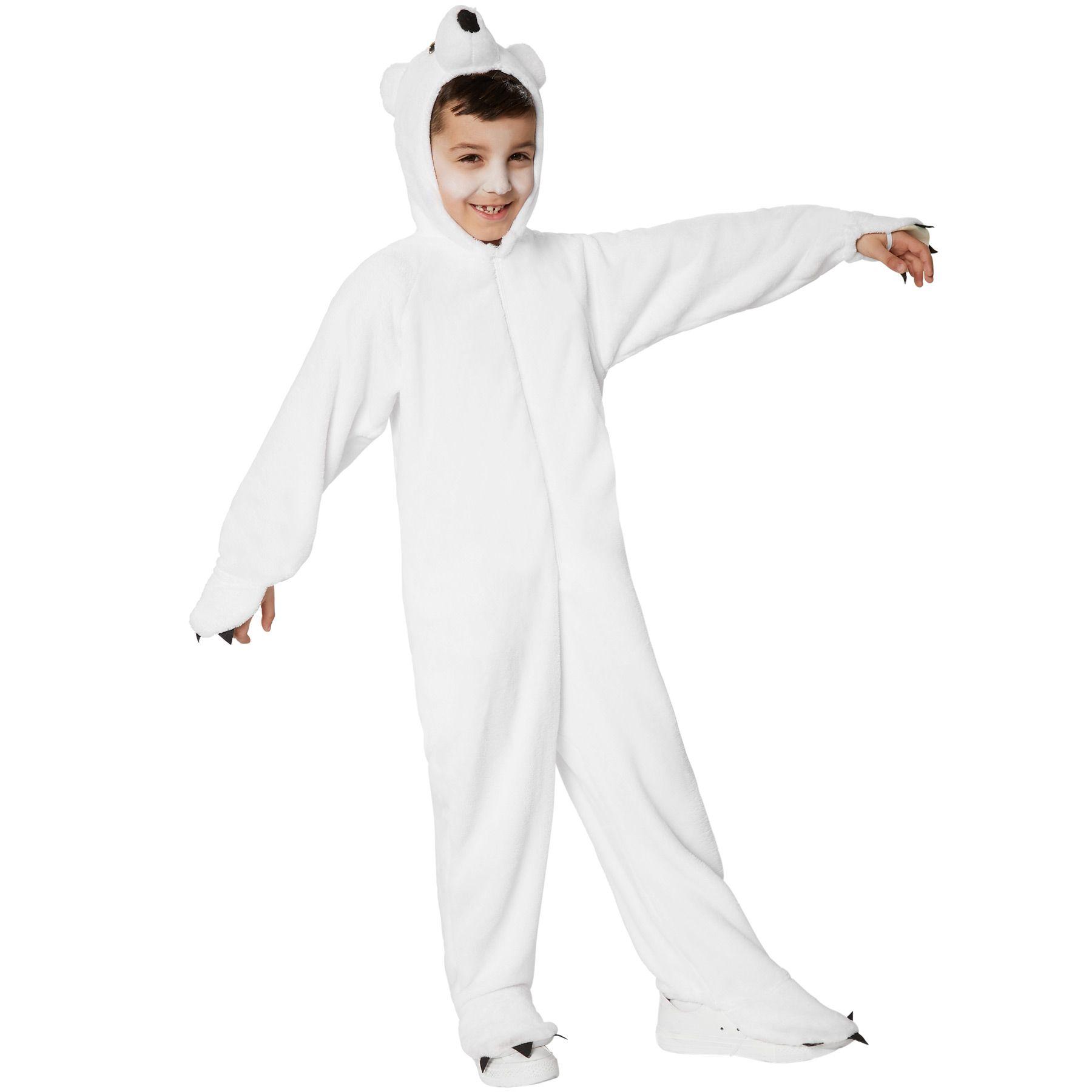 Costume da Bambini Orso polare Animali Vestito Travestimento Carnevale Halloween