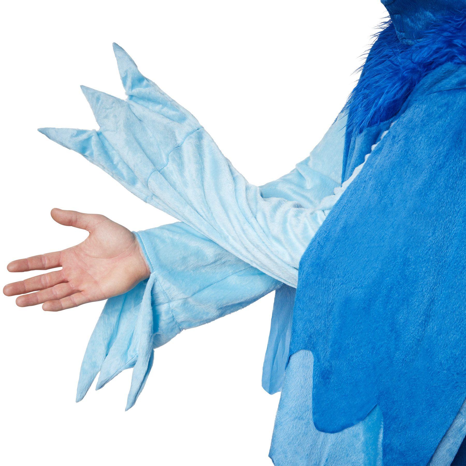 dressforfun 900543 Splendida Ara Blu Costume Adulti Unisex 165   No. 302509 Cuffia da Pappagallo e Sovrascarpe