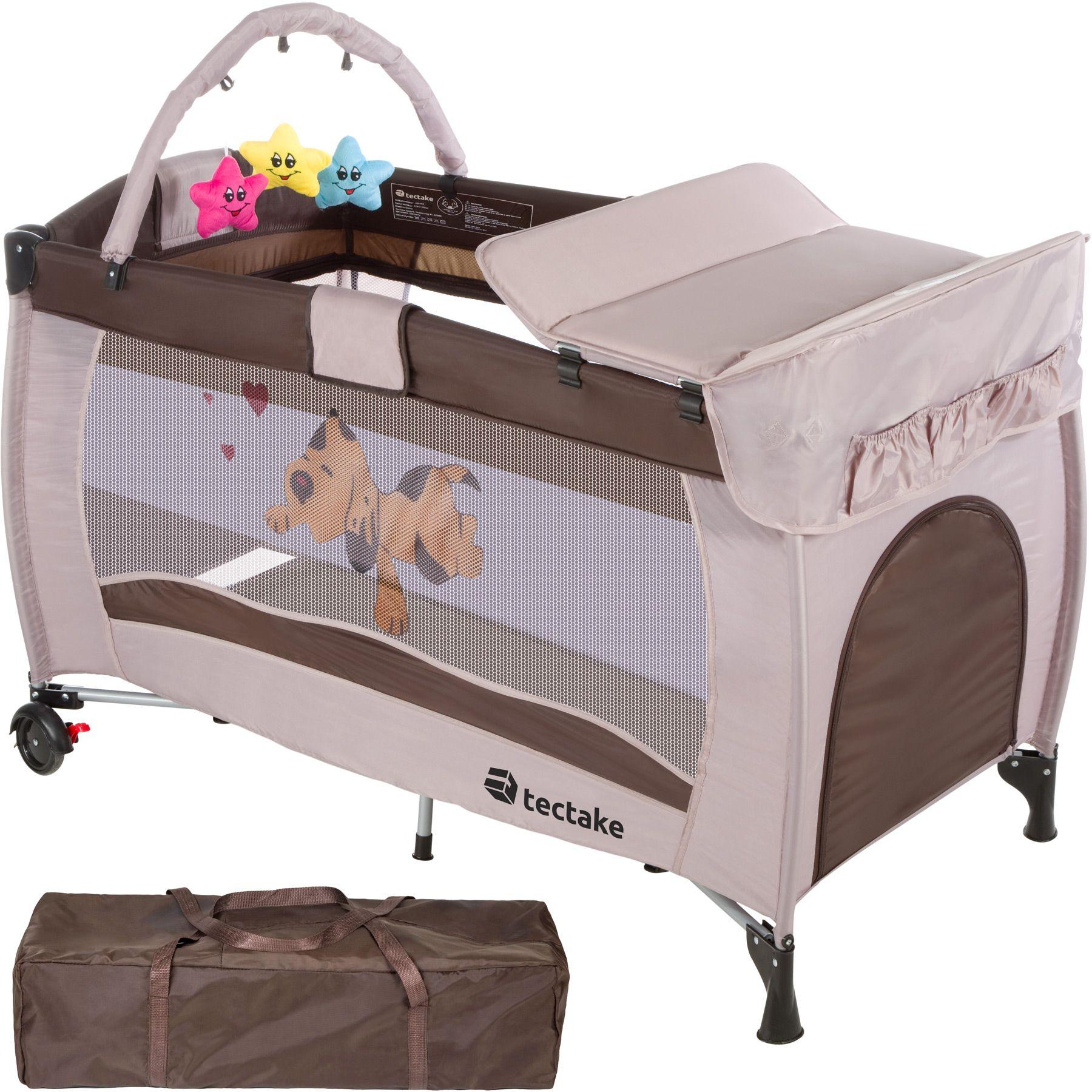Lit bébé pliant avec accessoires lit de voyage chocolat réglable