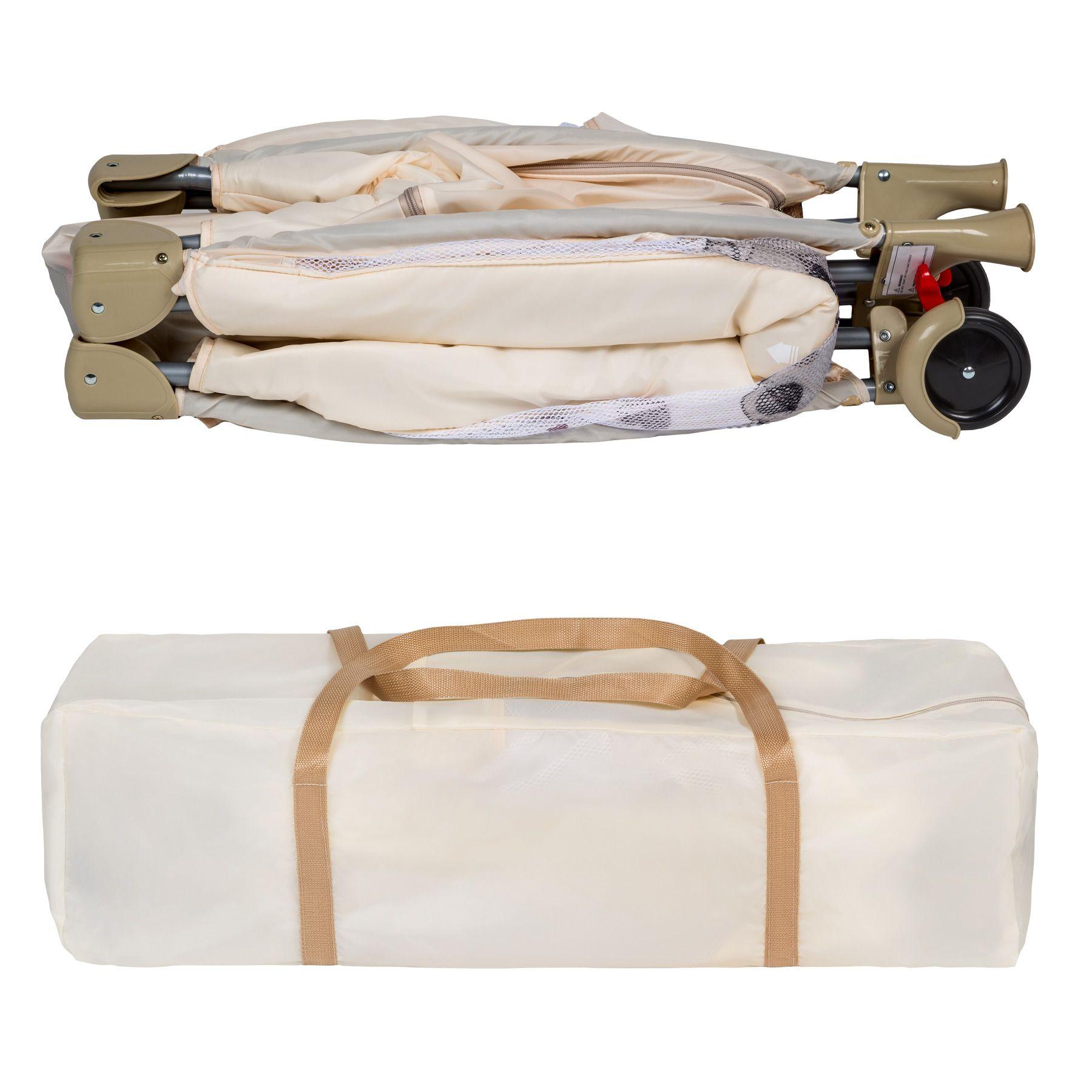 lit b b pliant avec accessoires lit de voyage beige r glable ebay. Black Bedroom Furniture Sets. Home Design Ideas