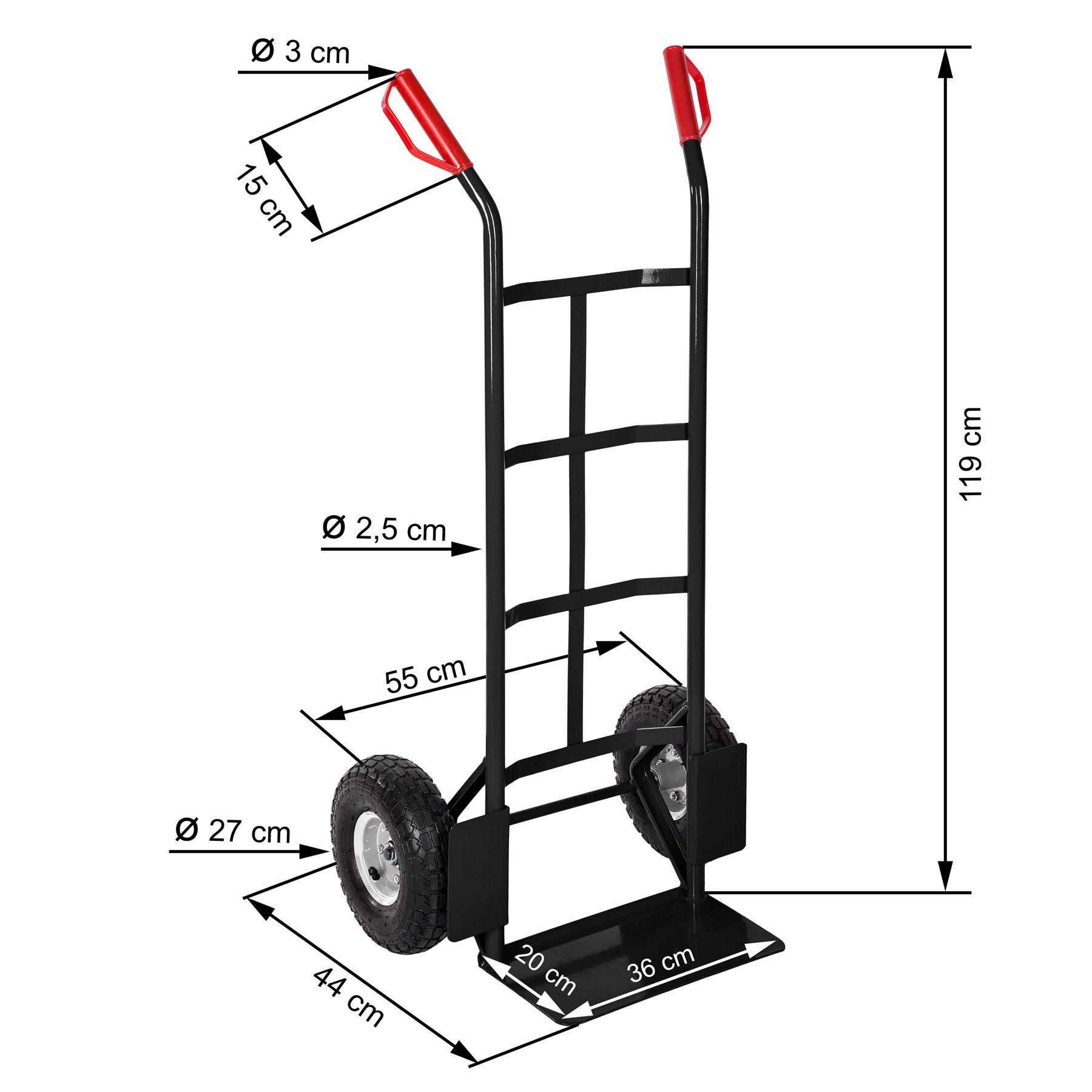 profi sackkarre transportkarre stapelkarre 200kg 4260182874554 ebay. Black Bedroom Furniture Sets. Home Design Ideas