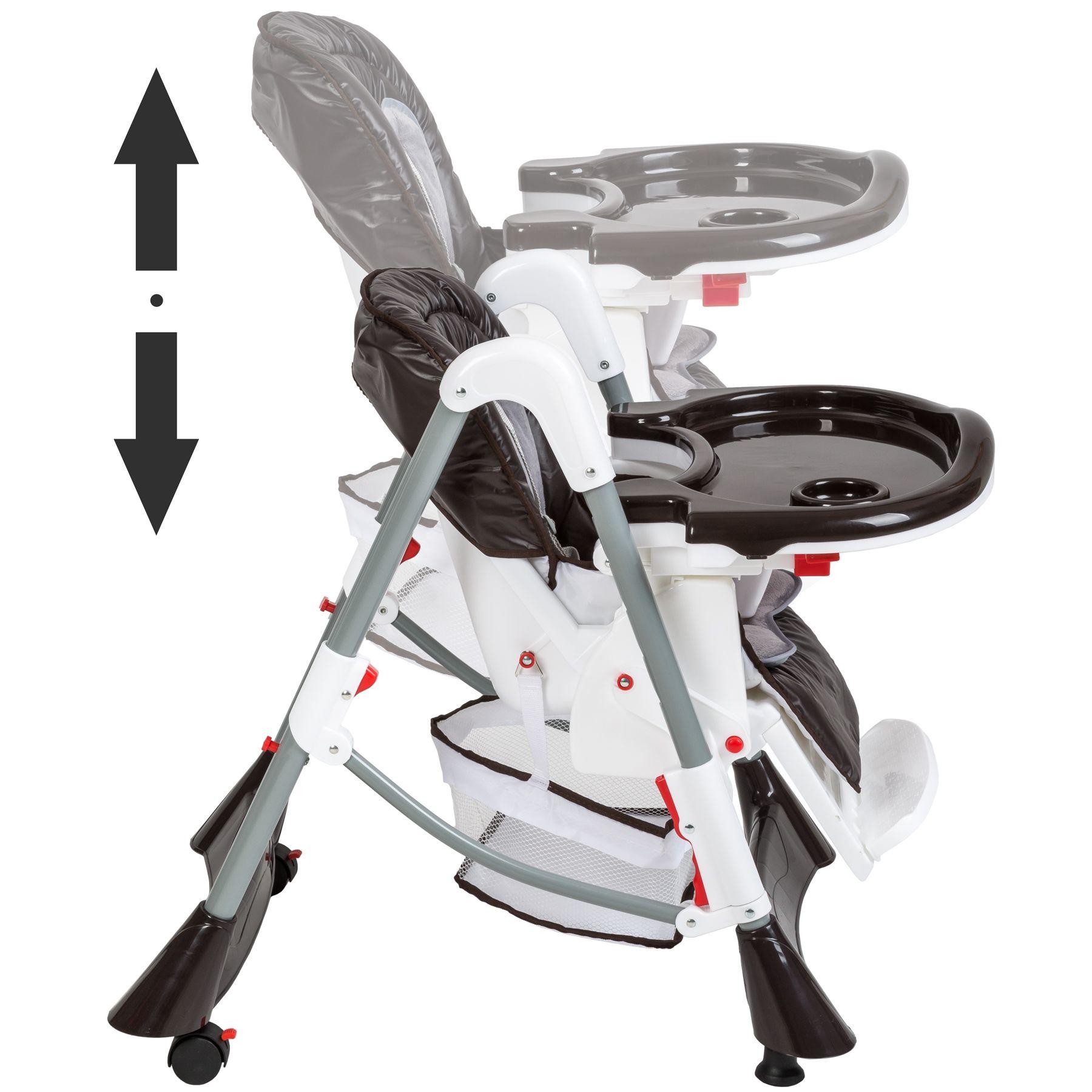 kinderhochstuhl treppenhochstuhl babyhochstuhl babystuhl kinderstuhl kaffeebraun ebay. Black Bedroom Furniture Sets. Home Design Ideas