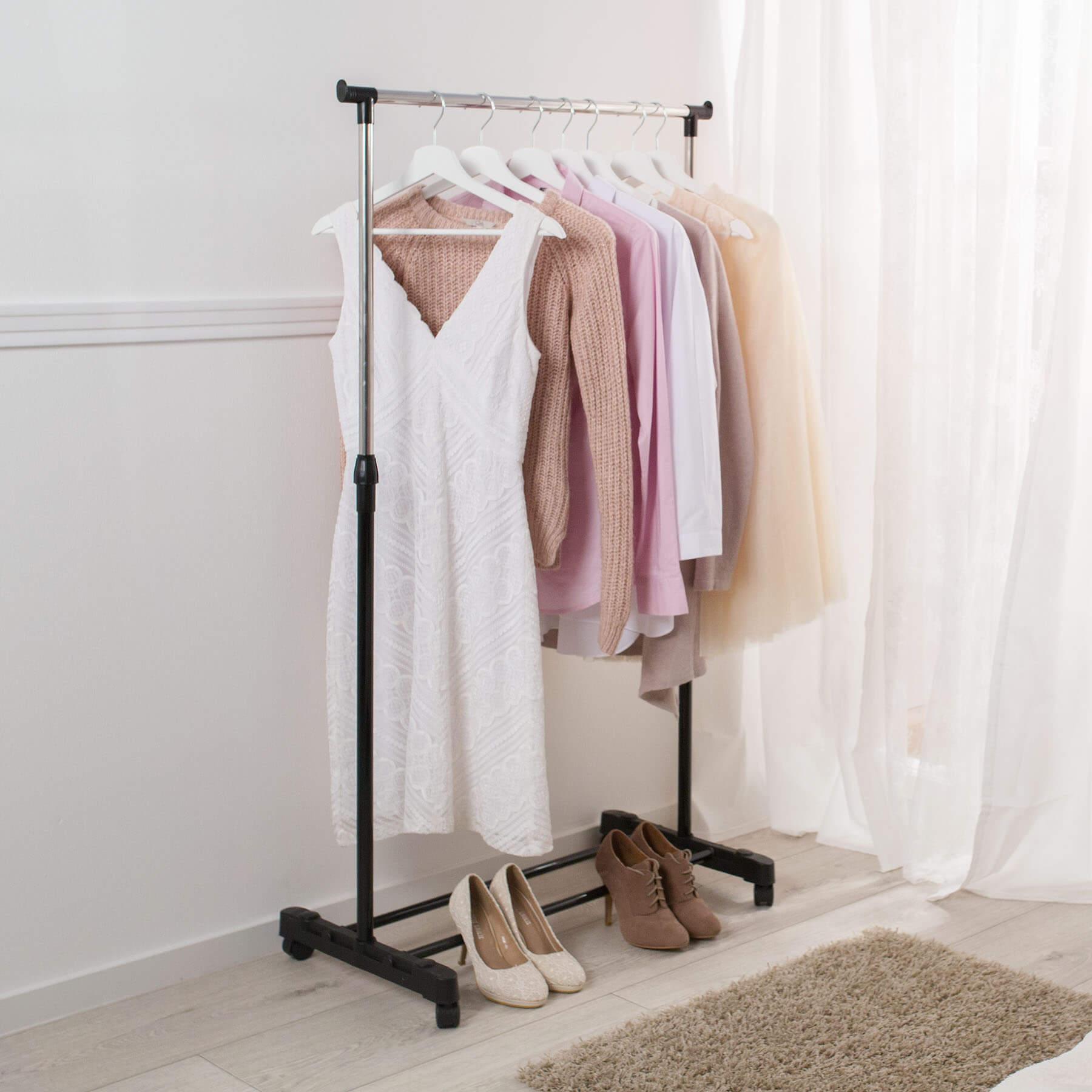 Kleiderstange Ebay: Kleiderständer Wäscheständer Garderobenständer Auf Rollen