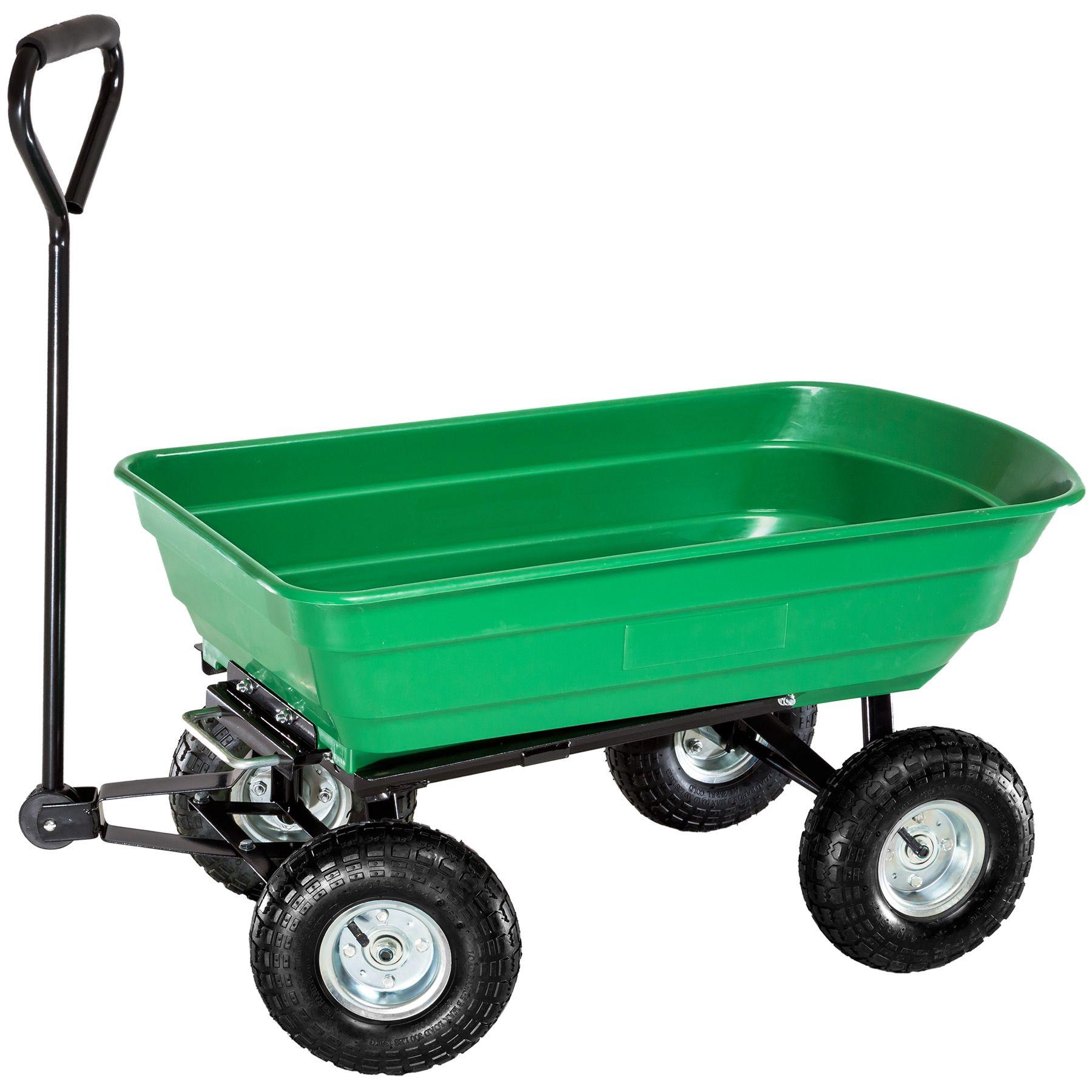 Chariot de jardin à main remorque transporteur inclinable basculante ...