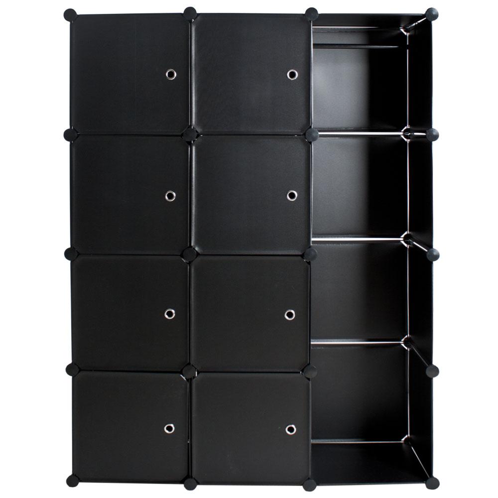 steckregal schrank regal kleiderschrank garderobe standregal bad schwarz ebay. Black Bedroom Furniture Sets. Home Design Ideas