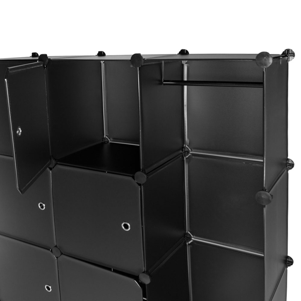steckregal schrank regal kleiderschrank garderobe standregal bad schwarz ebay. Black Bedroom Furniture Sets. Home Design Ideas