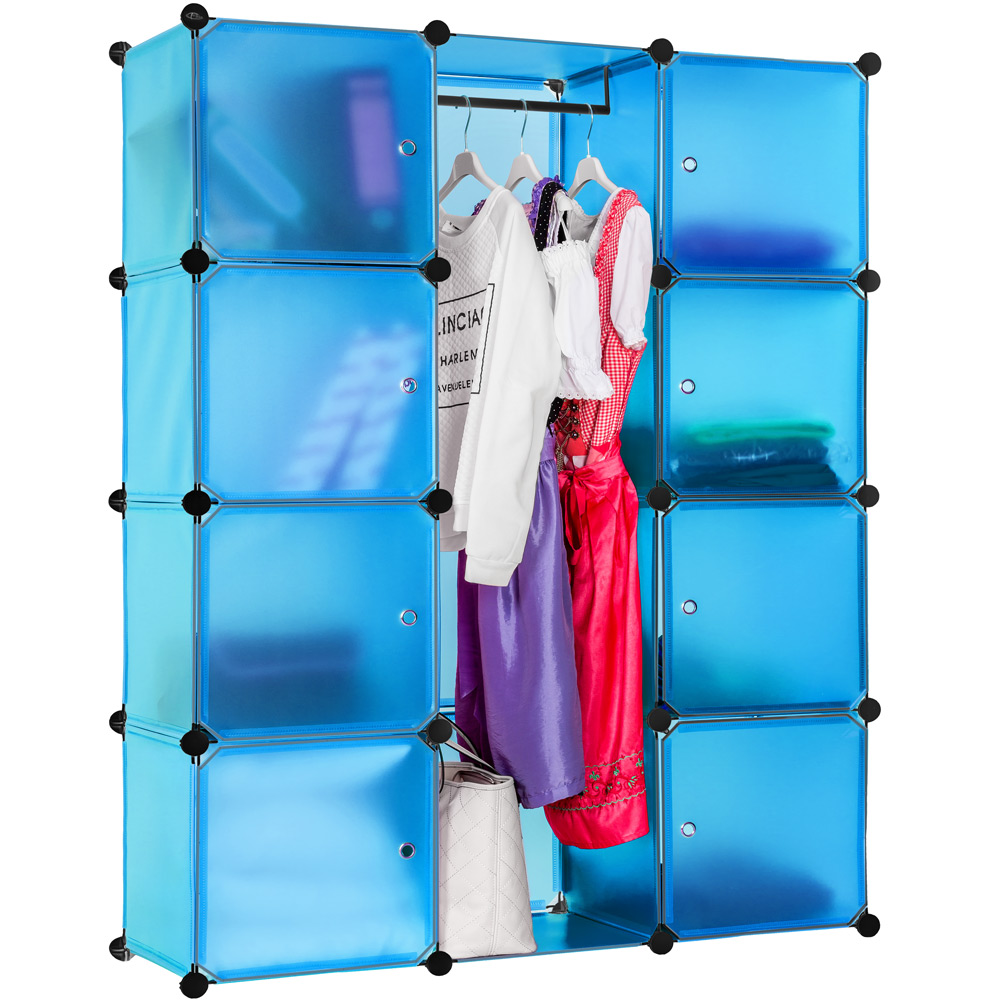 steckregal schrank regal kleiderschrank garderobe standregal bad blau ebay. Black Bedroom Furniture Sets. Home Design Ideas