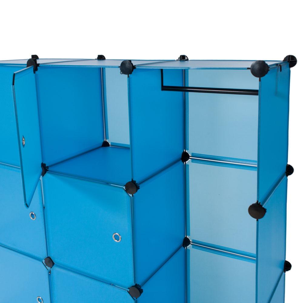 steckregal schrank regal kleiderschrank garderobe standregal bad blau ebay. Black Bedroom Furniture Sets. Home Design Ideas