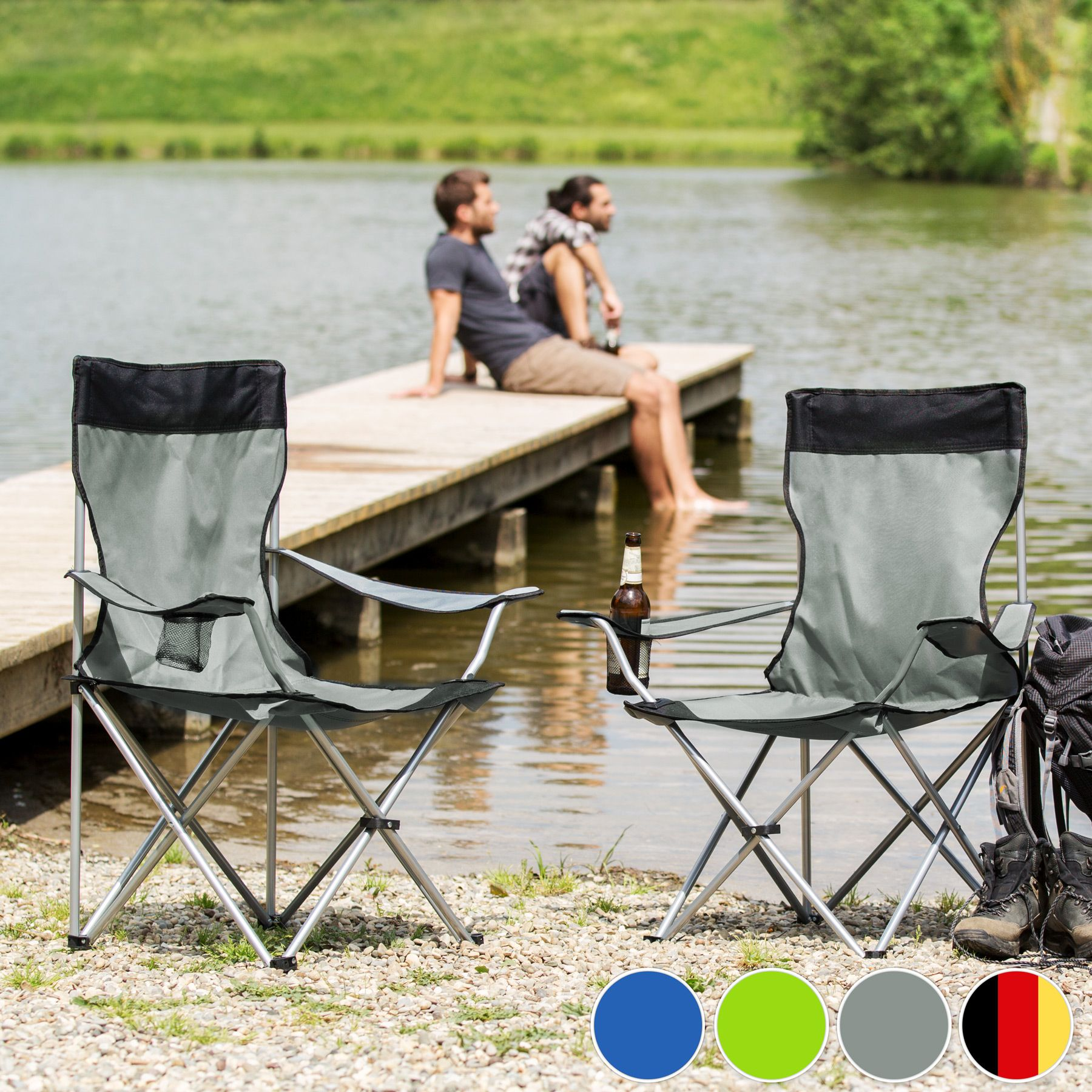 gamvert chaise camping peche pliante avec housse