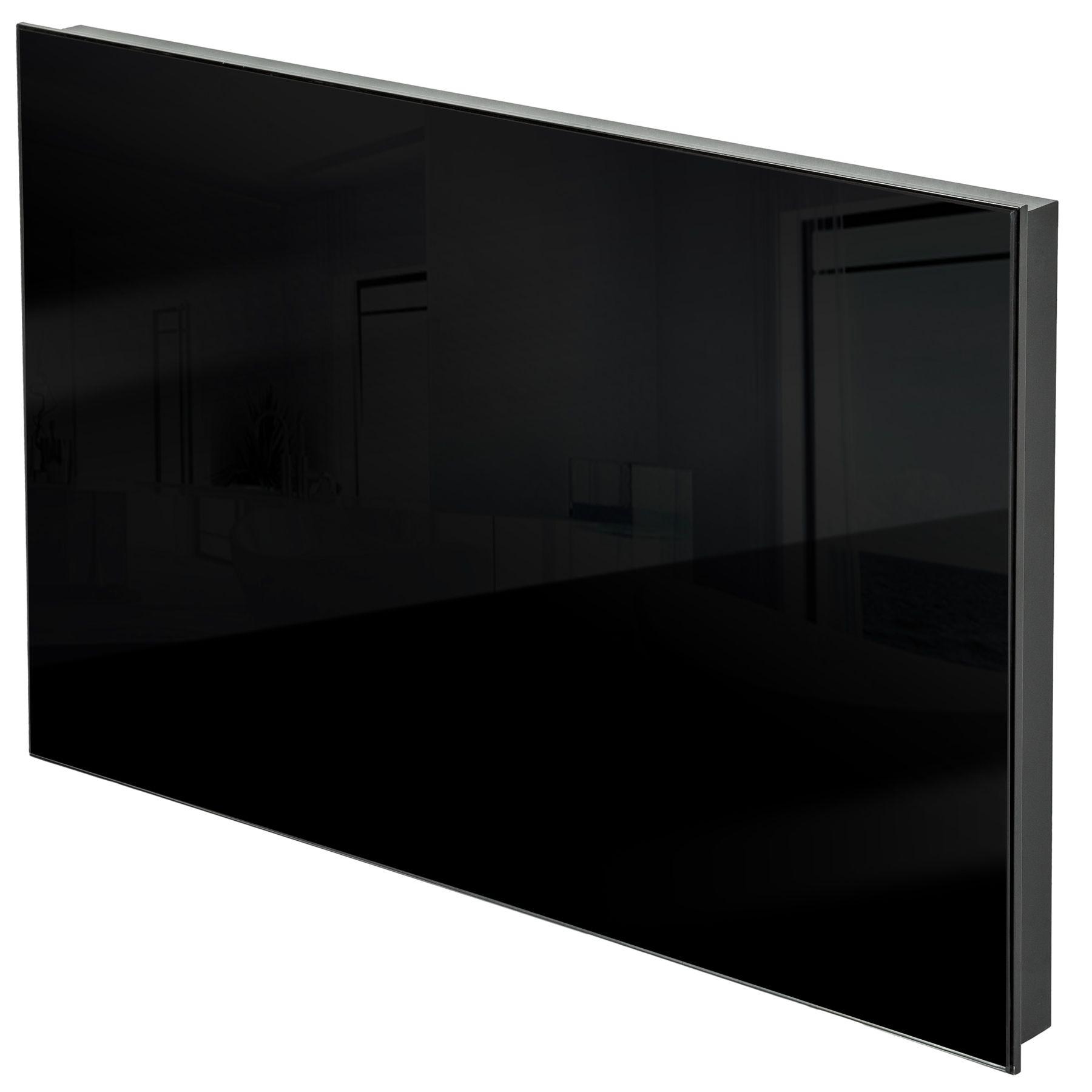 chauffage infrarouge en verre electrique 270 watt radiant radiateur ip44 noir ebay. Black Bedroom Furniture Sets. Home Design Ideas