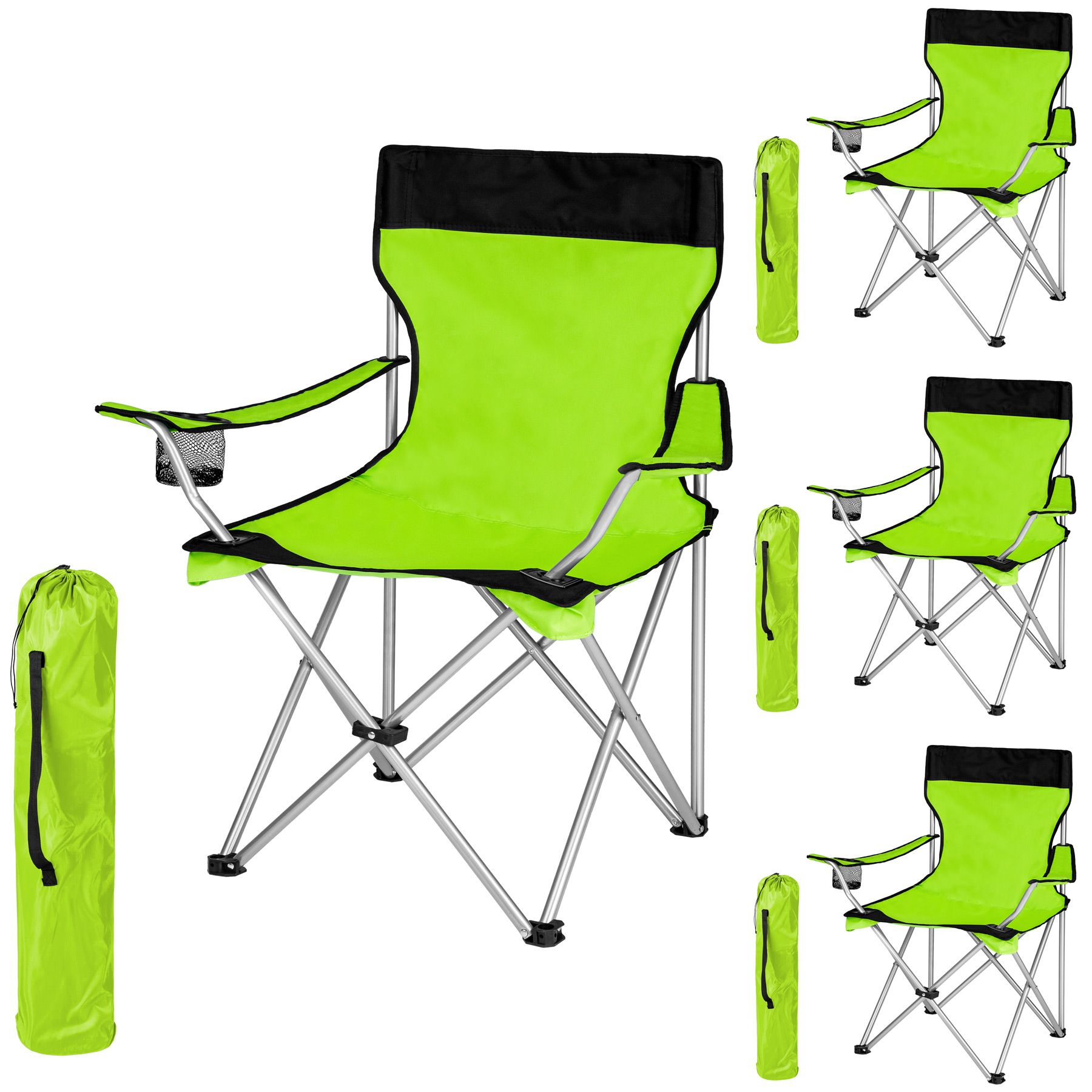 Détails sur Chaise de camping avec housse fauteuil de camping pliable siege de plage vert