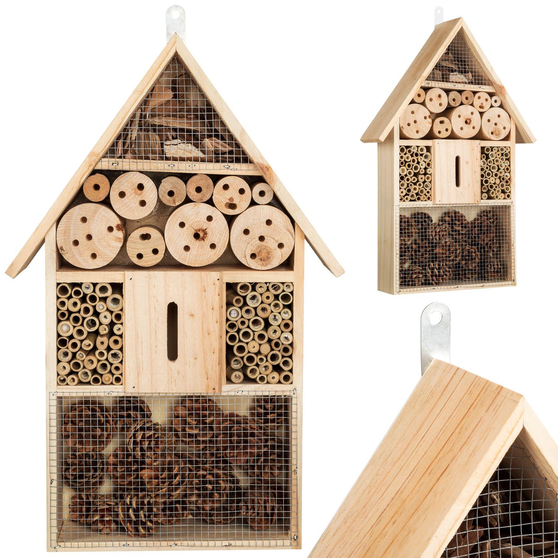 xxl h tel bo te insectes 48 cm maison des insectes en bois jardin balcon ebay