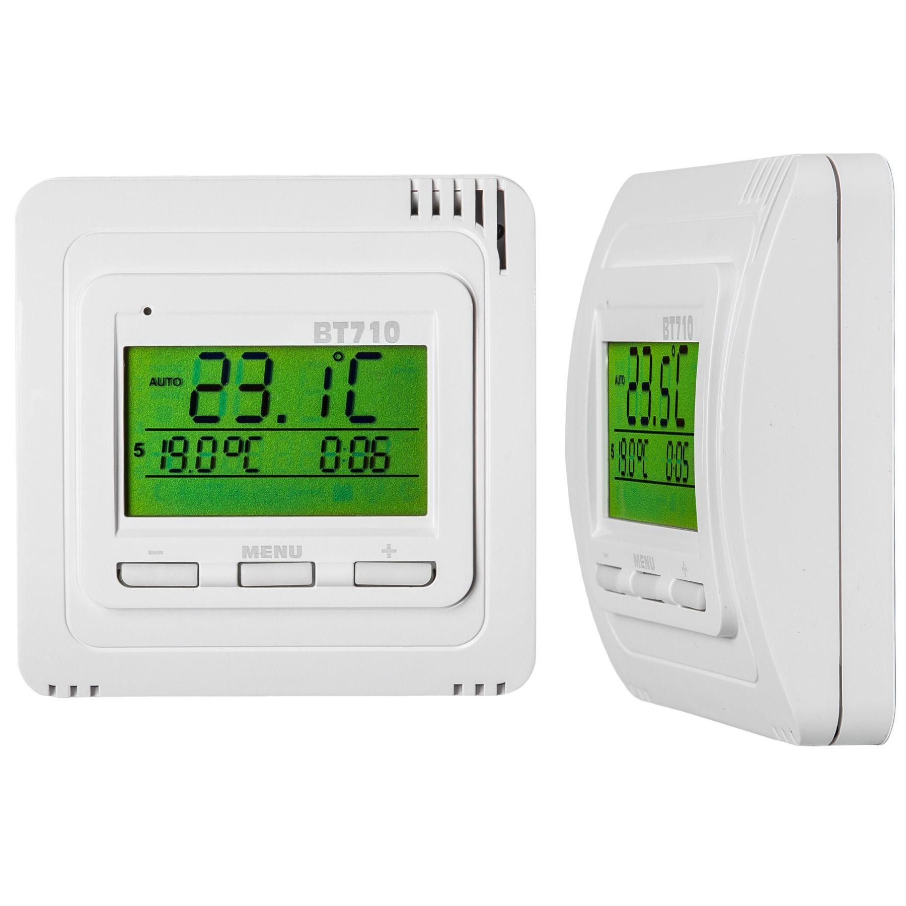 thermostat raumthermostat heizk rper fu bodenheizung digital temperatursensor n 8594012226197 ebay. Black Bedroom Furniture Sets. Home Design Ideas