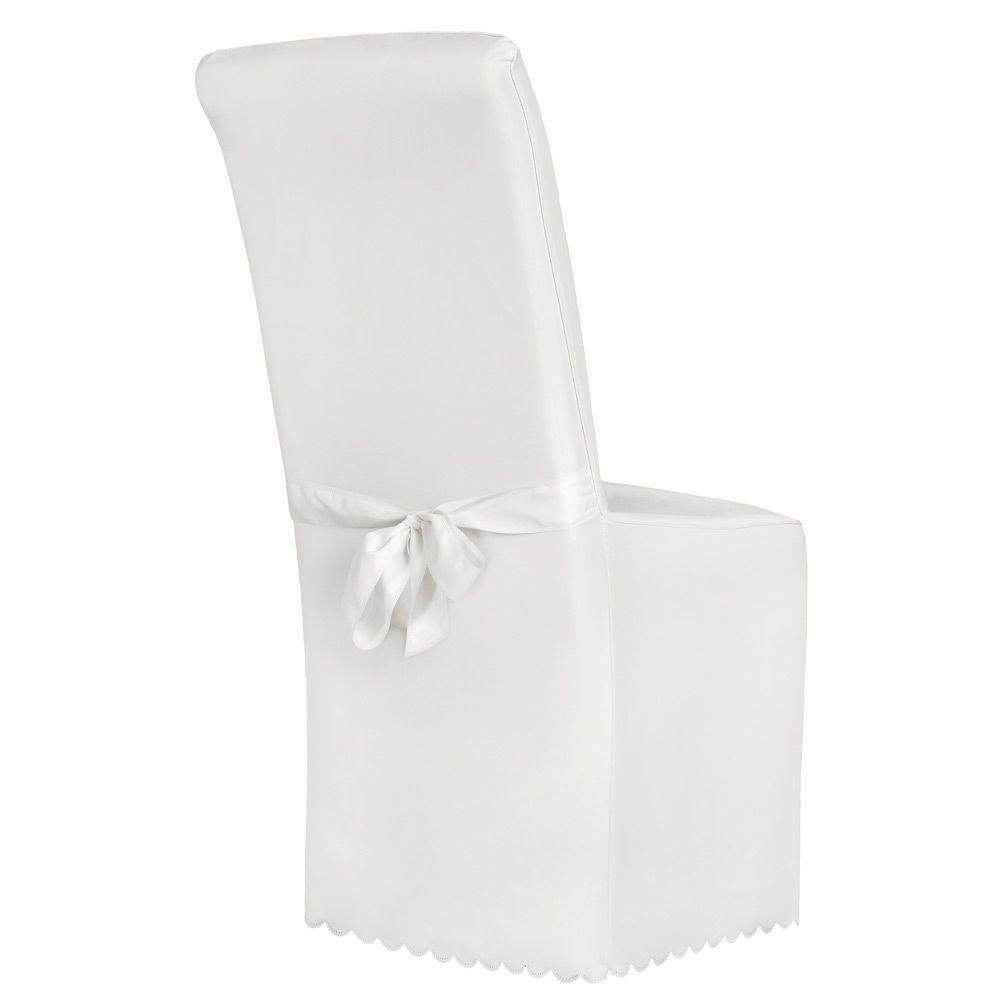 Dettagli su Coprisedie della sedia rivestimento matrimonio universale con fiocco bianco nuov