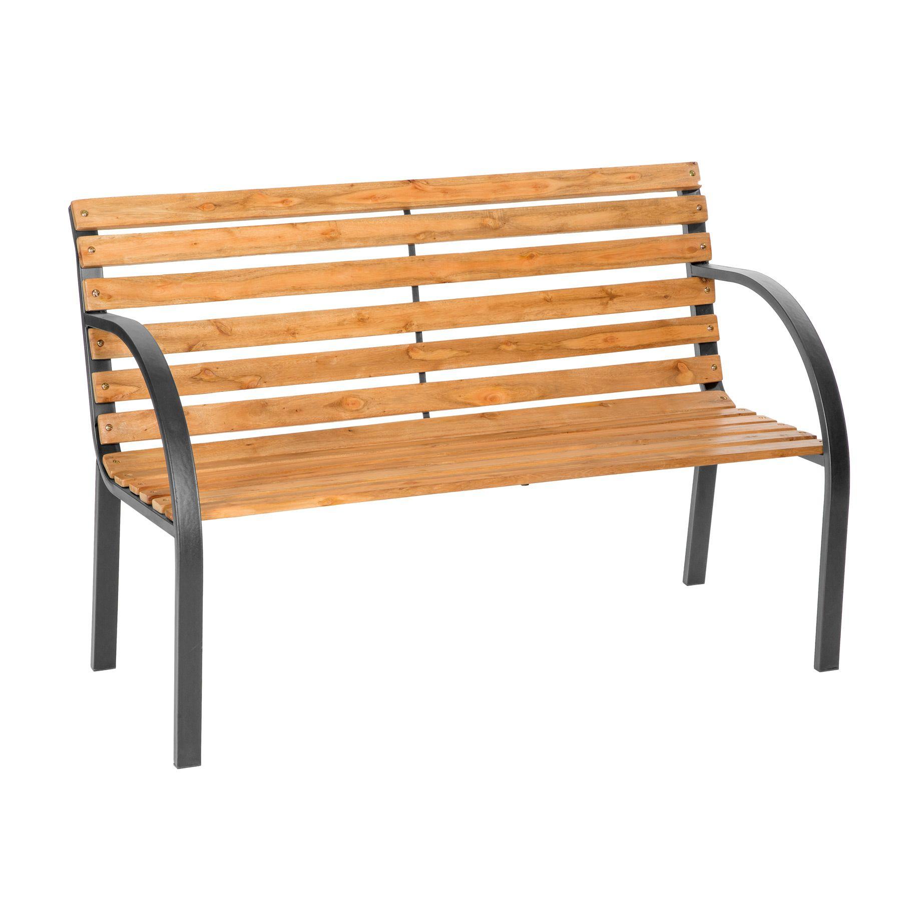 Banco de jardín para sentarse muebles abeto chino macizo metal | eBay