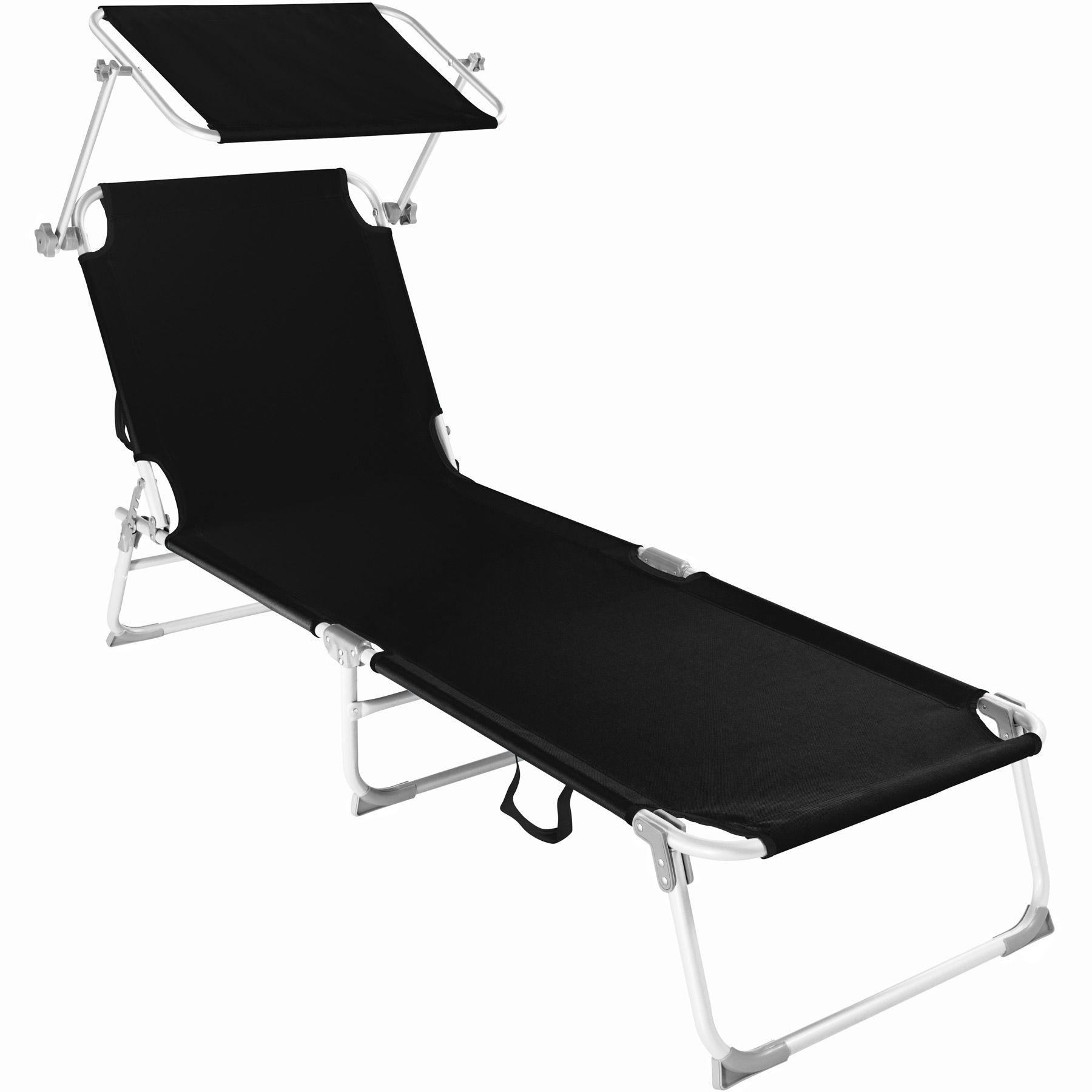 alu chaise longue de jardin pliante transat bain de soleil + pare