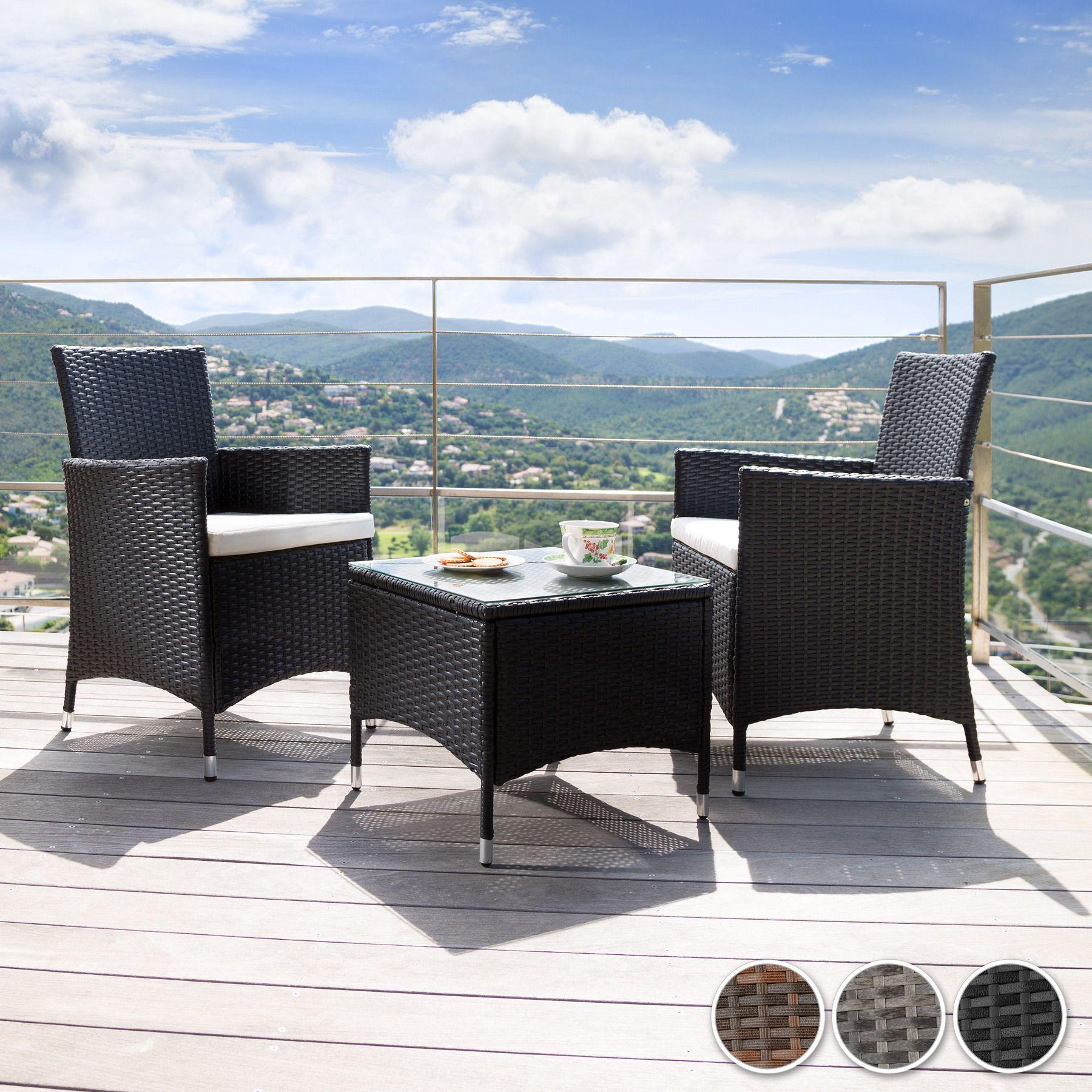 Aluminio Ratán Sintético Muebles Set Conjunto para jardín Comedor ...