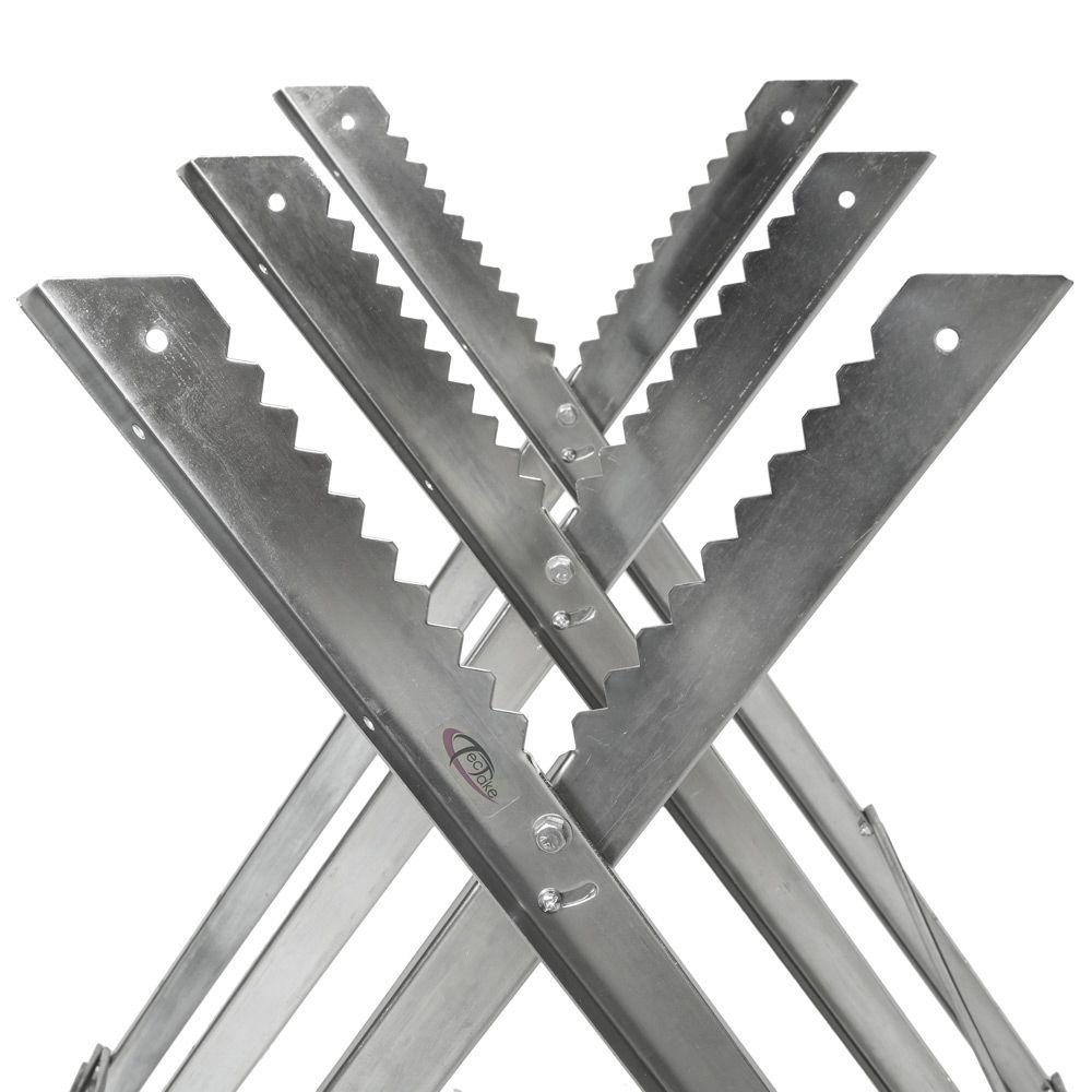 chevalet de sciage avec barre de blocage réglable treteau porte