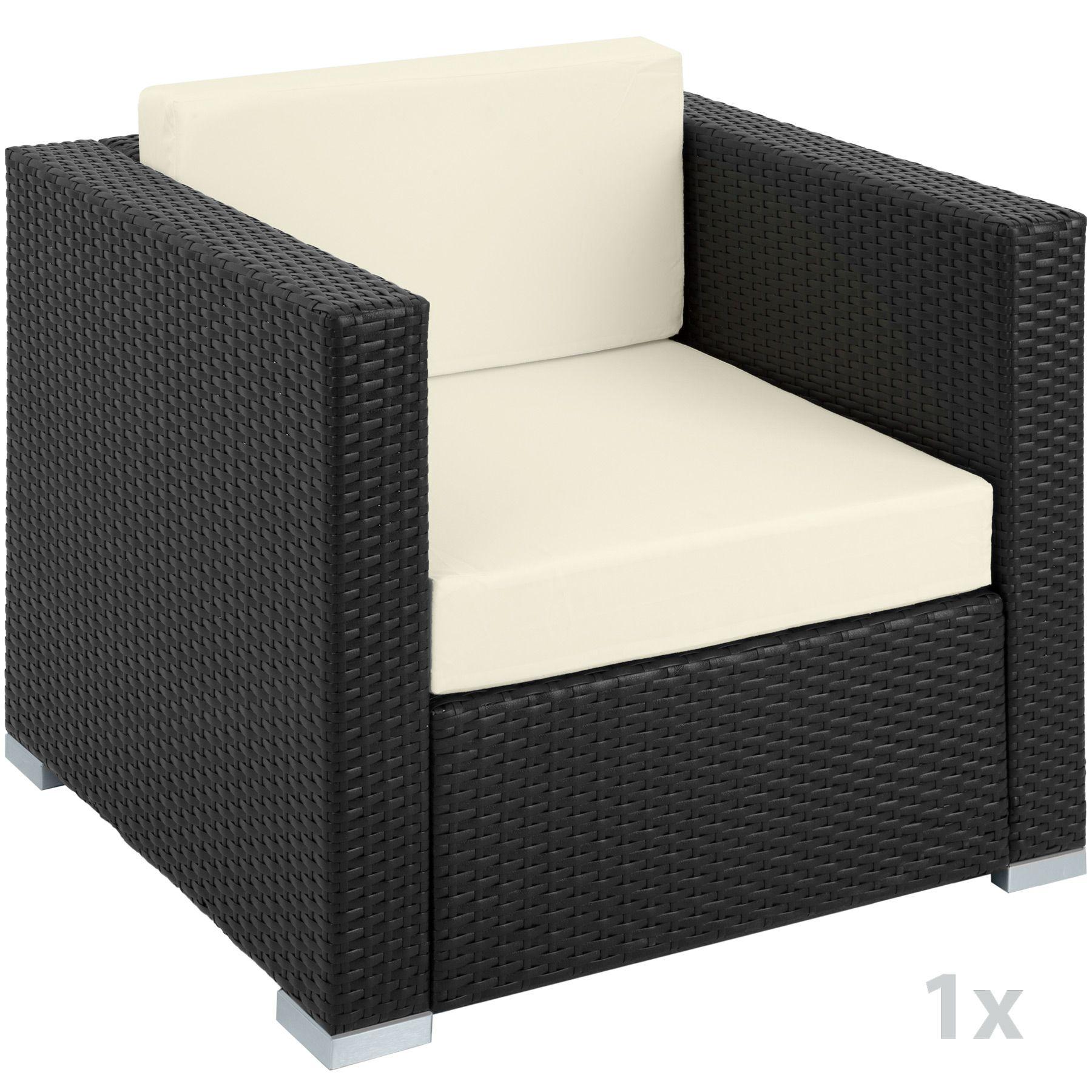 XXL Poly Rattan Alu Sitzgruppe Lounge Rattanmöbel Gartenmöbel Sofa ...