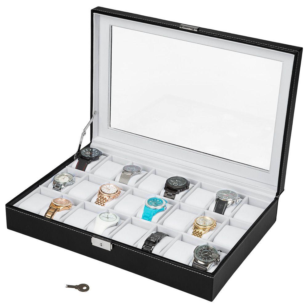 Boite Coffret de rangement montres Pour 6 montres Simili