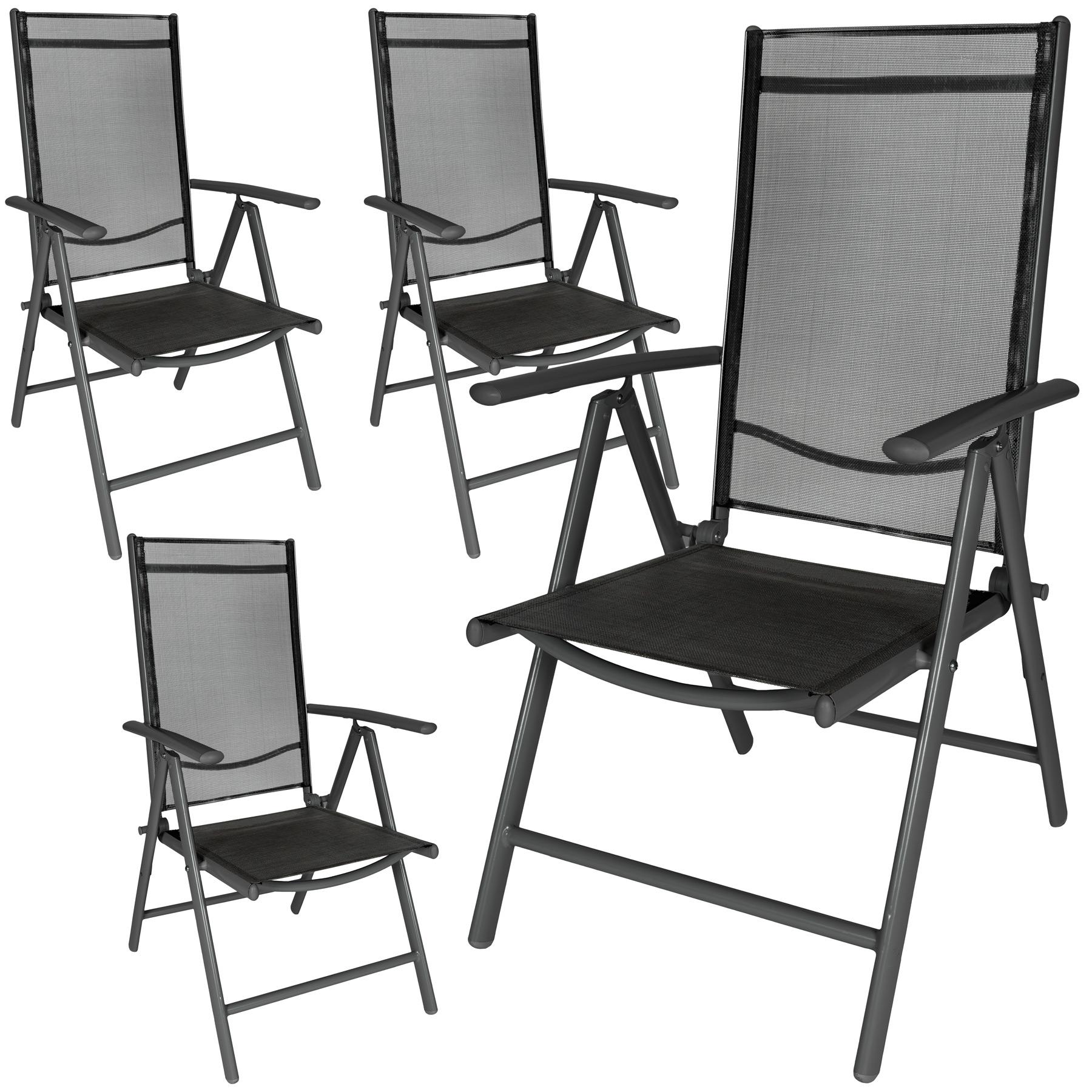 4 Aluminium Gartenstühle
