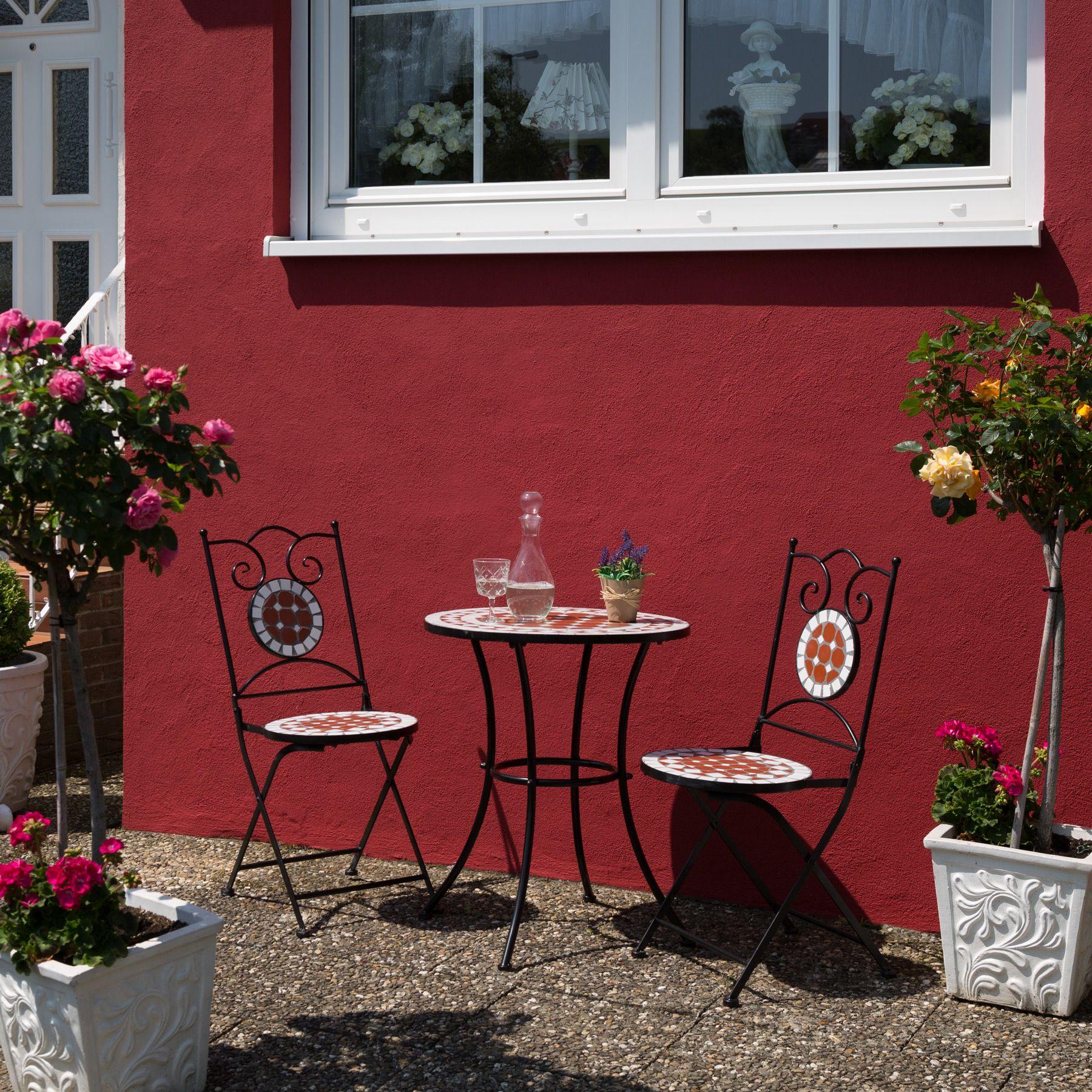 Détails sur Mobilier de jardin mosaïque table et chaises meuble bistrot bar  terrasse balcon