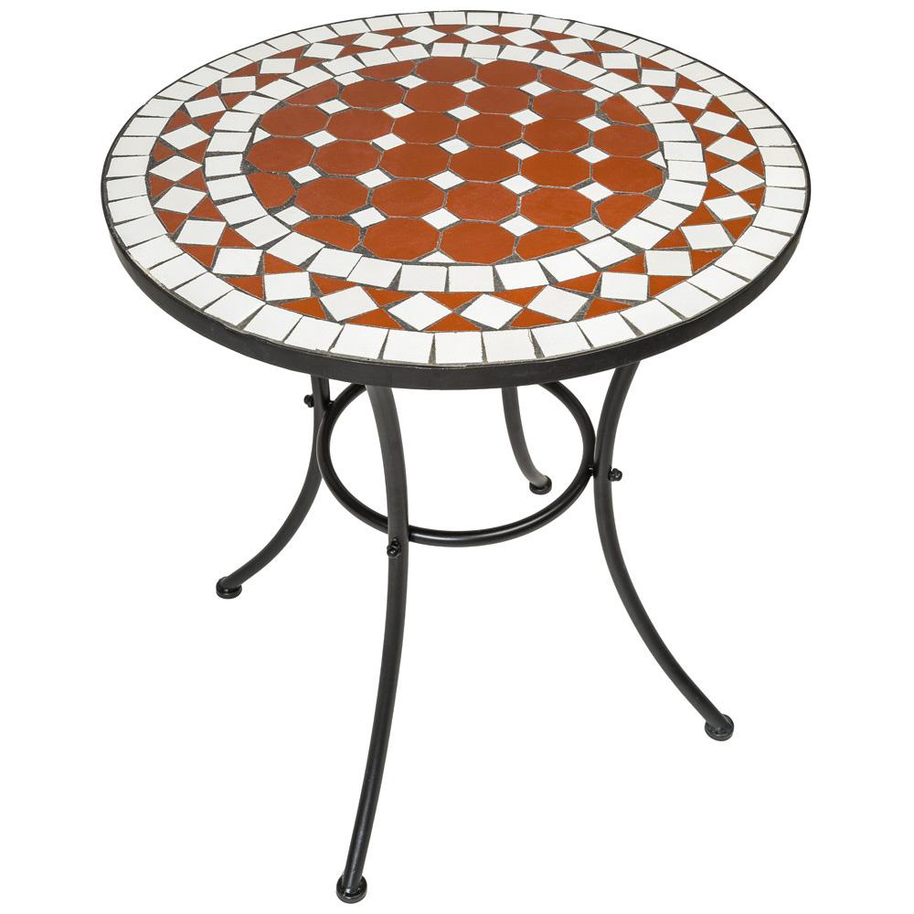 Mobilier de jardin mosaïque table et chaises meuble bistrot bar ...