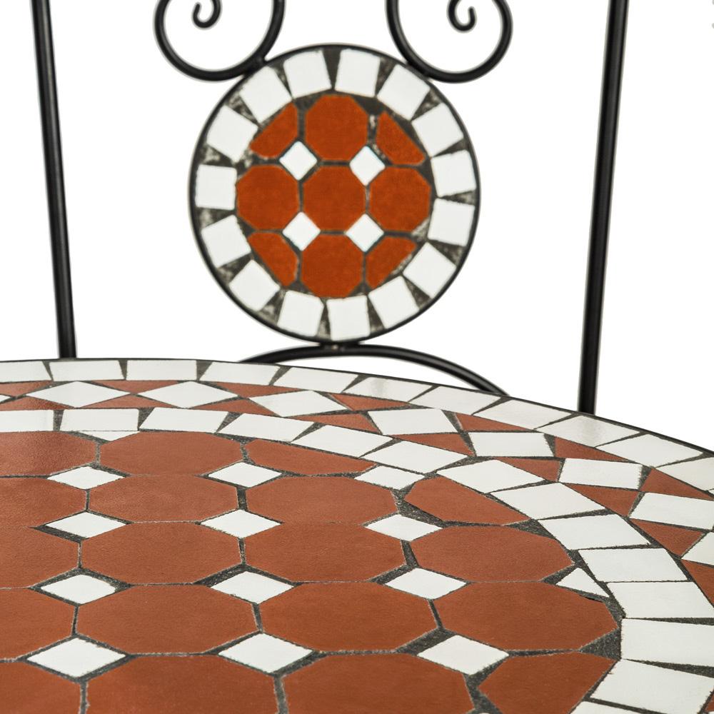 mosaik gartengarnitur gartenm bel gartenset sitzgruppe st hle tisch set garnitur ebay. Black Bedroom Furniture Sets. Home Design Ideas