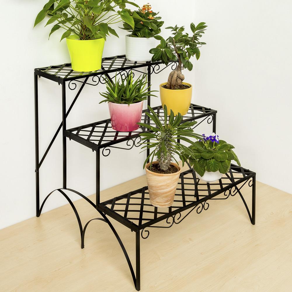 Estantes para plantas escalera met lica macetas flores - Soportes para macetas ...