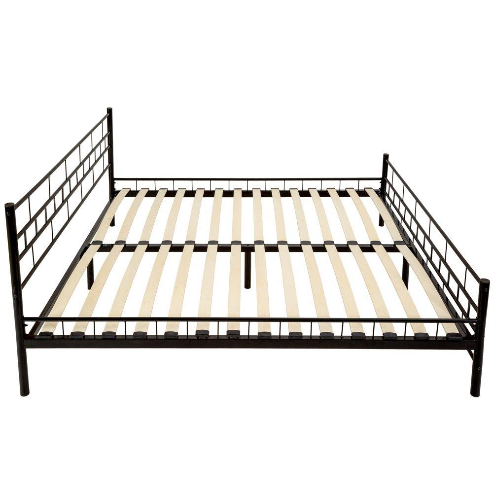 180x200 cm Schlafzimmerbett Bettgestell Metall Bett Doppelbett + ...