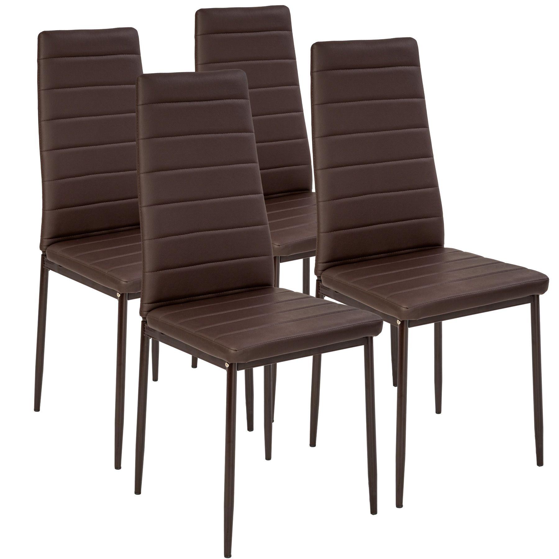 4x Esszimmerstuhl Set Stühle Küchenstuhl Hochlehner Wartezimmer Stuhl grau