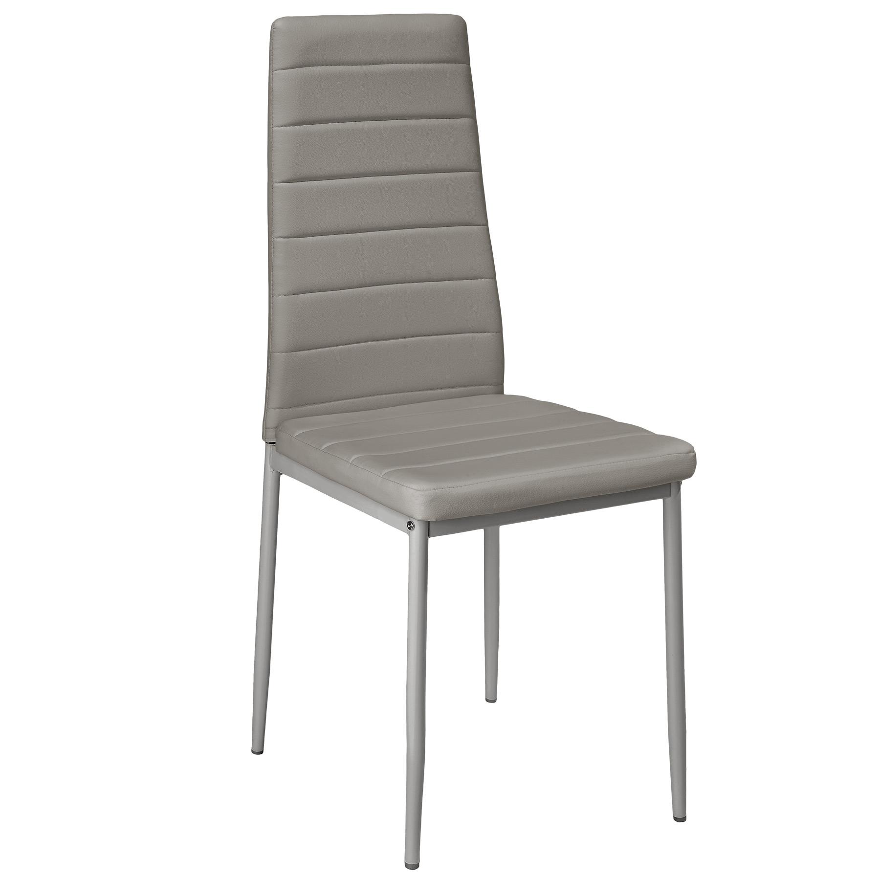 6x esszimmerstuhl set st hle k chenstuhl hochlehner wartezimmer stuhl grau ebay. Black Bedroom Furniture Sets. Home Design Ideas