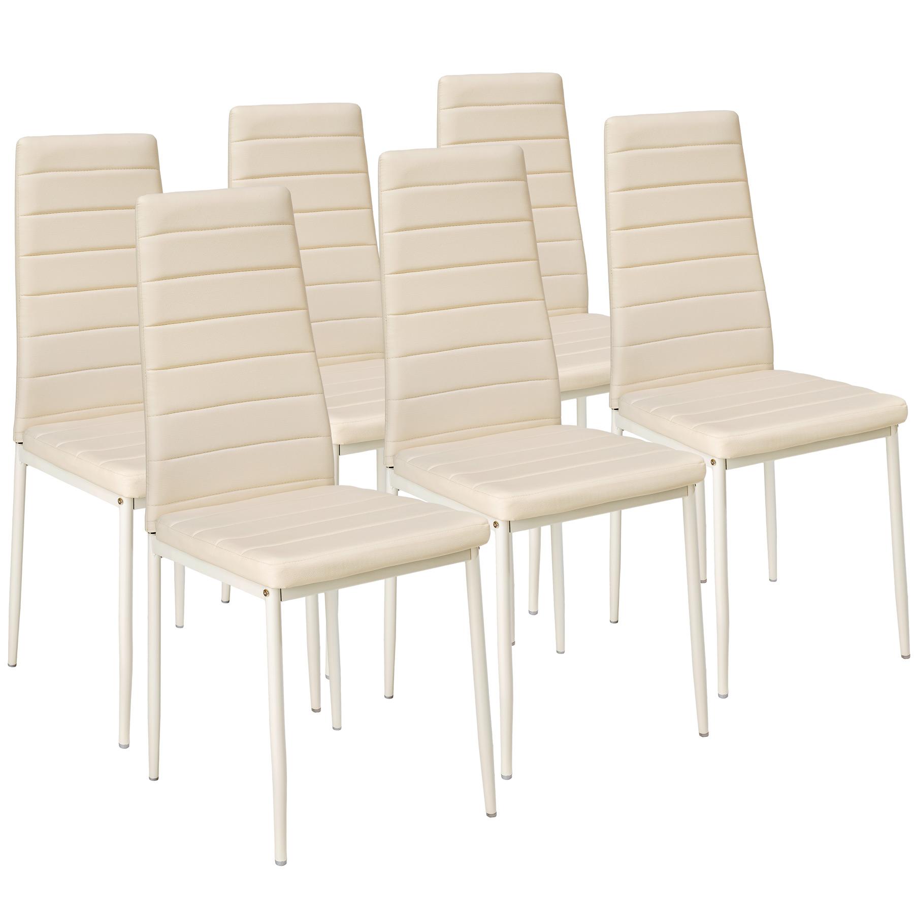 Set di 6 sedia per sala da pranzo tavolo cucina eleganti moderne ...