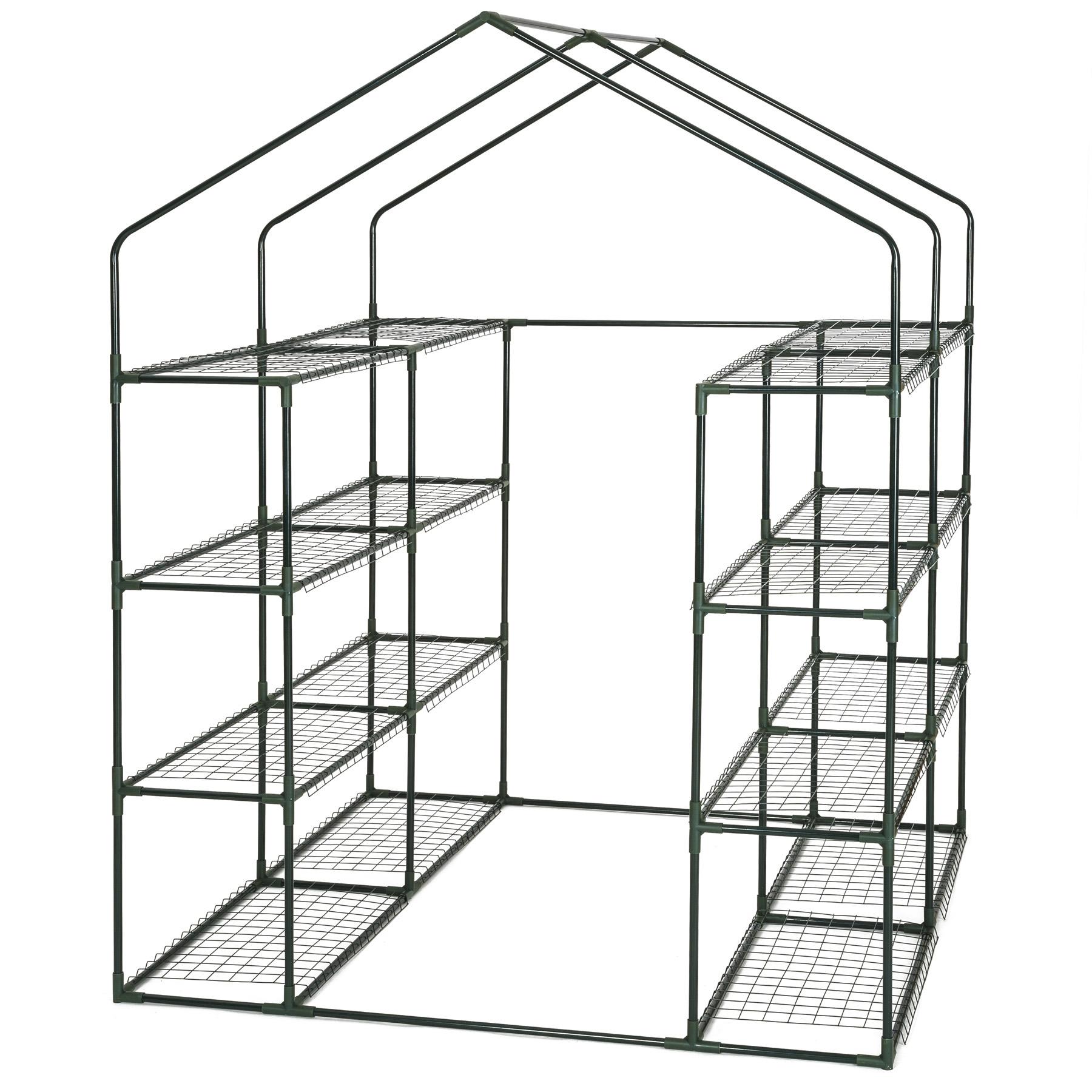 gew chshaus gartenhaus treibhaus garten fr hbeet tomaten pvc folie 143x143x195cm ebay. Black Bedroom Furniture Sets. Home Design Ideas