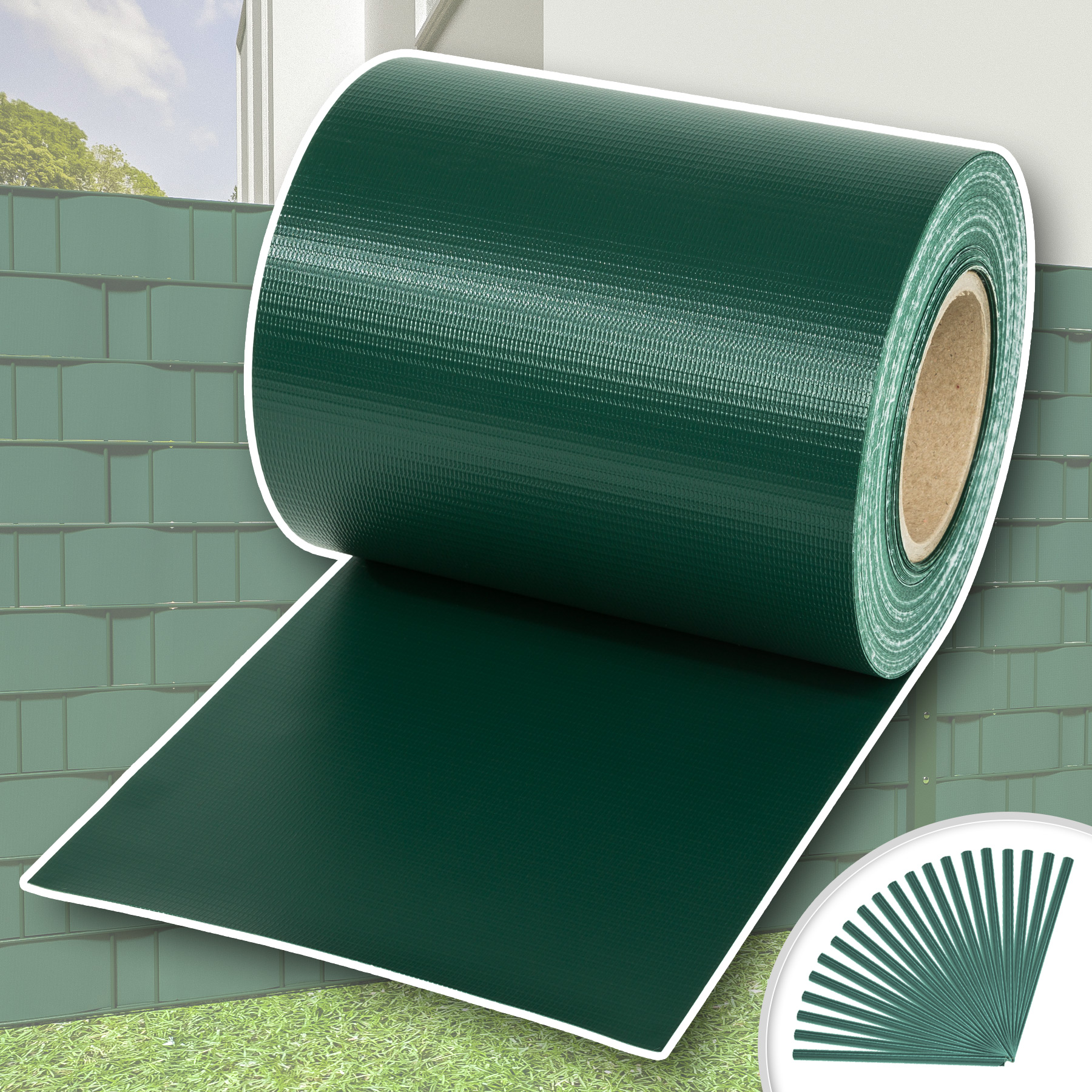 Rollo aislamiento aislante PVC 35m x 19cm jardín para vallas banda ...
