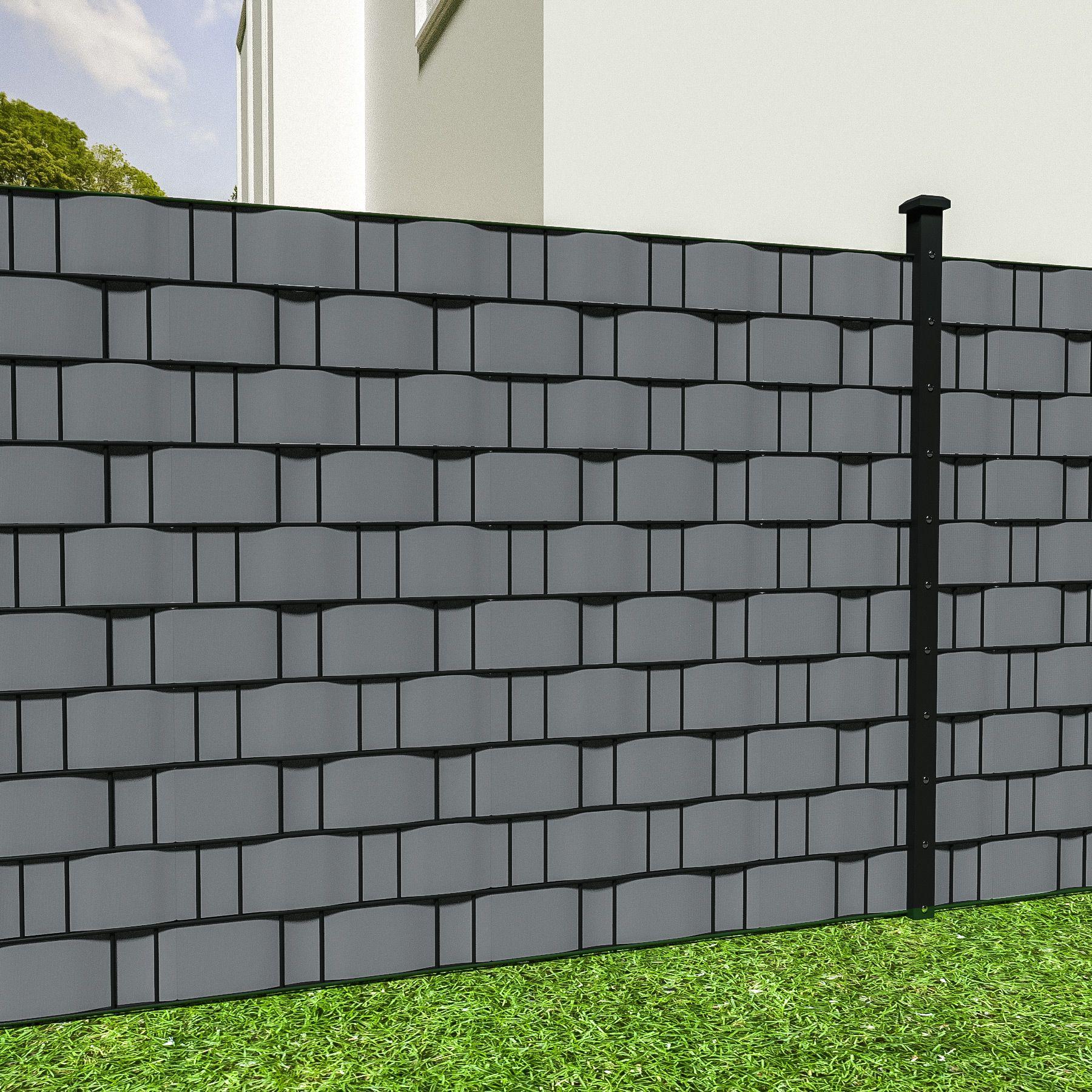 Rotolo recinzione 35m x 19cm pvc pellicola giardino - Recinzioni da giardino in pvc ...
