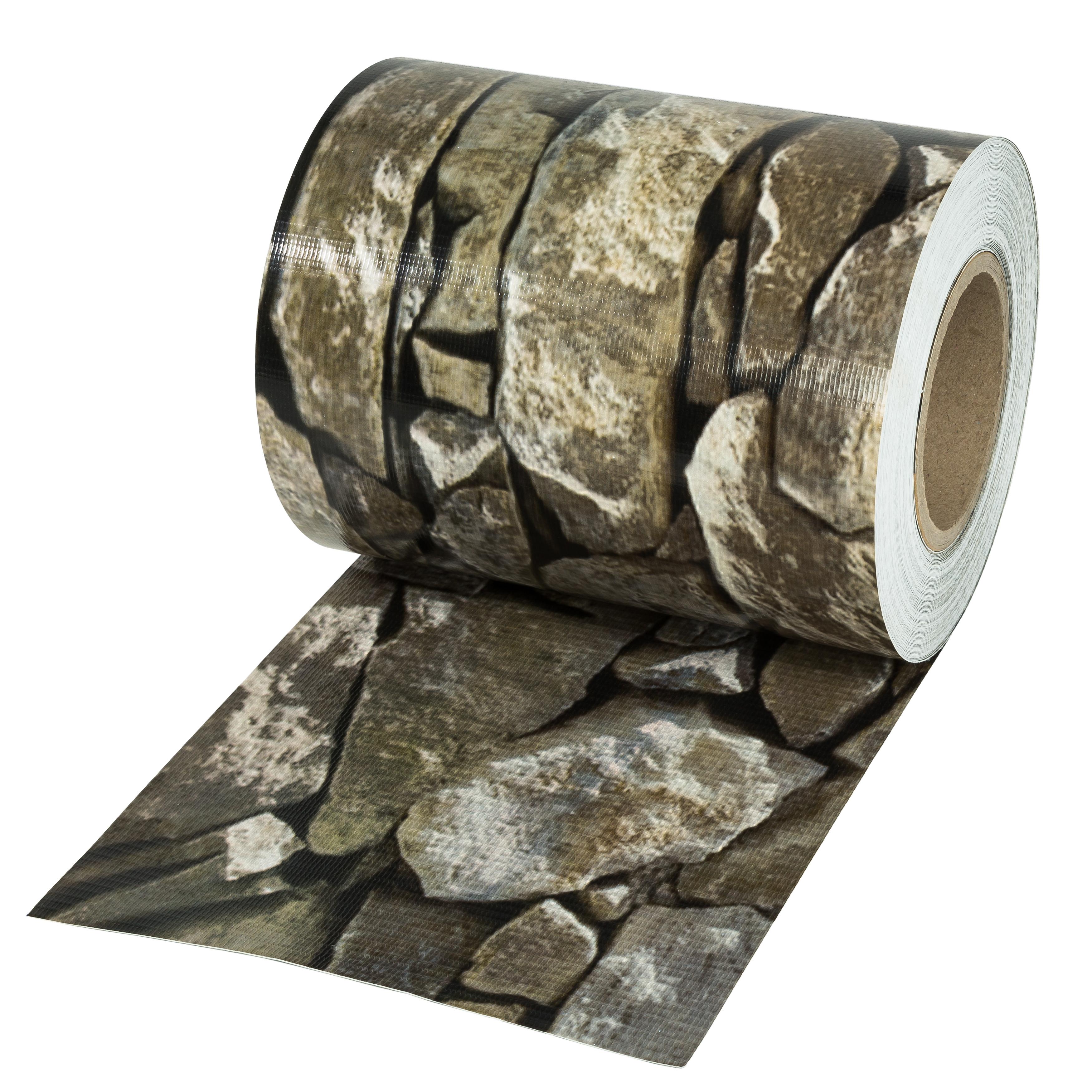 pvc sichtschutz streifen sichtschutzfolie doppelstabmatten zaun 35m stein optik ebay. Black Bedroom Furniture Sets. Home Design Ideas