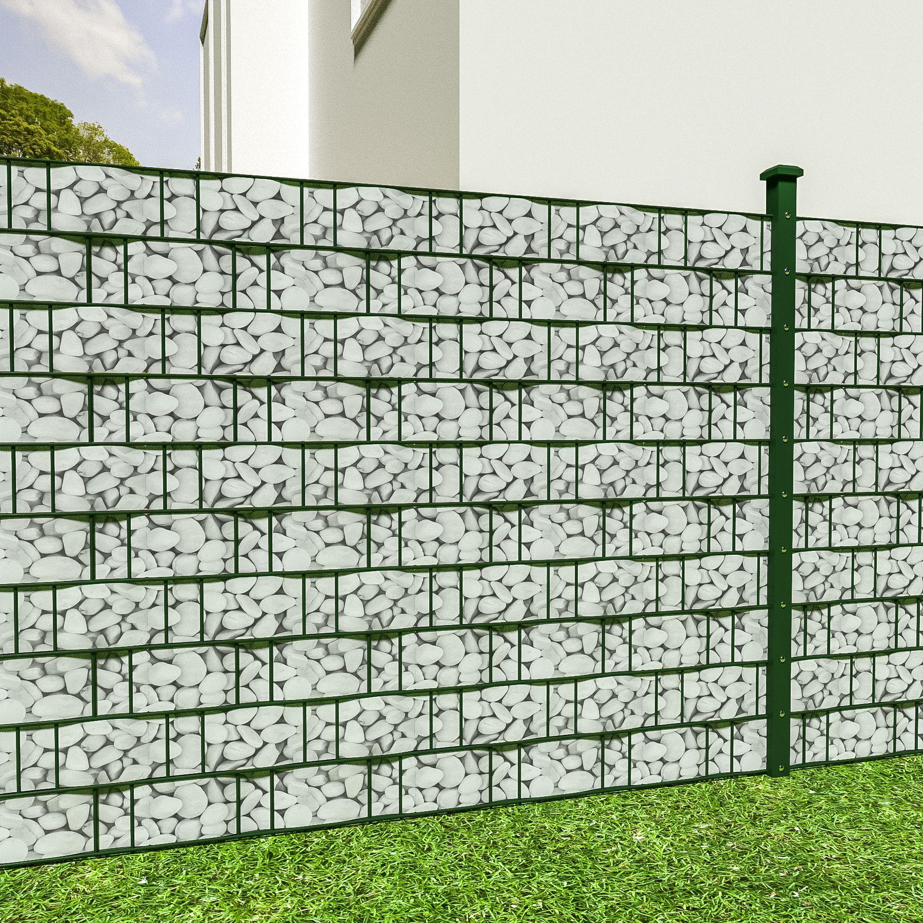 pvc sichtschutz streifen sichtschutzfolie doppelstabmatten zaun schutz 35m kies 4260435995715 ebay. Black Bedroom Furniture Sets. Home Design Ideas