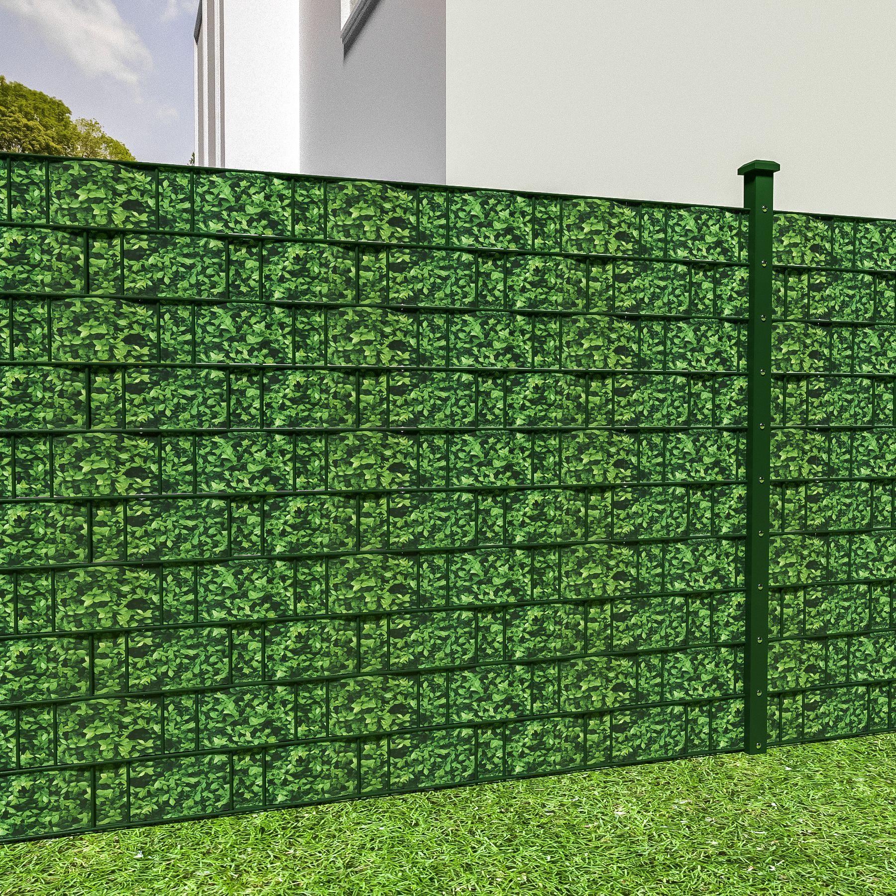 Beliebt PVC Sichtschutz Streifen Sichtschutzfolie Doppelstabmatten Zaun UO07