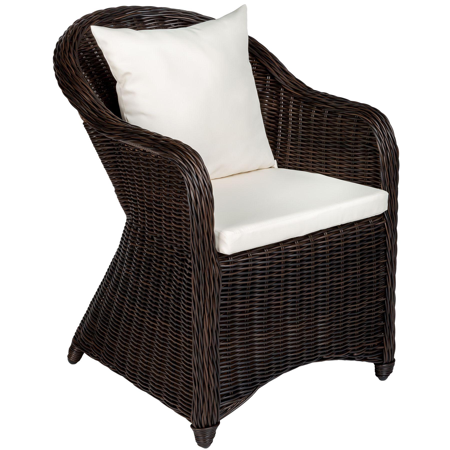 Détails sur Aluminium chaise de jardin salon fauteuil siège en style osier  résine tressée