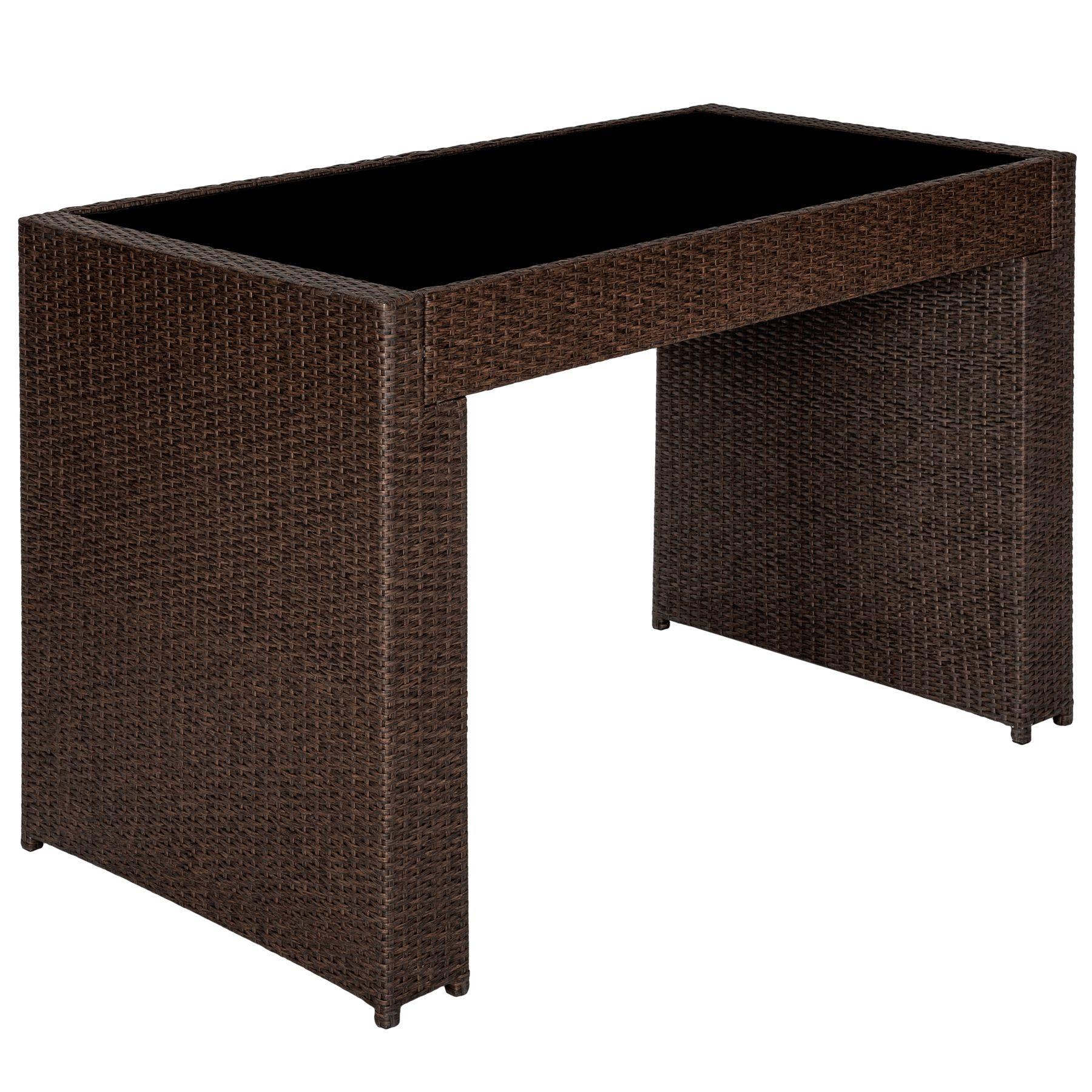 poly rattan aluminium barset mit 6 barhocker sitzgruppe. Black Bedroom Furniture Sets. Home Design Ideas